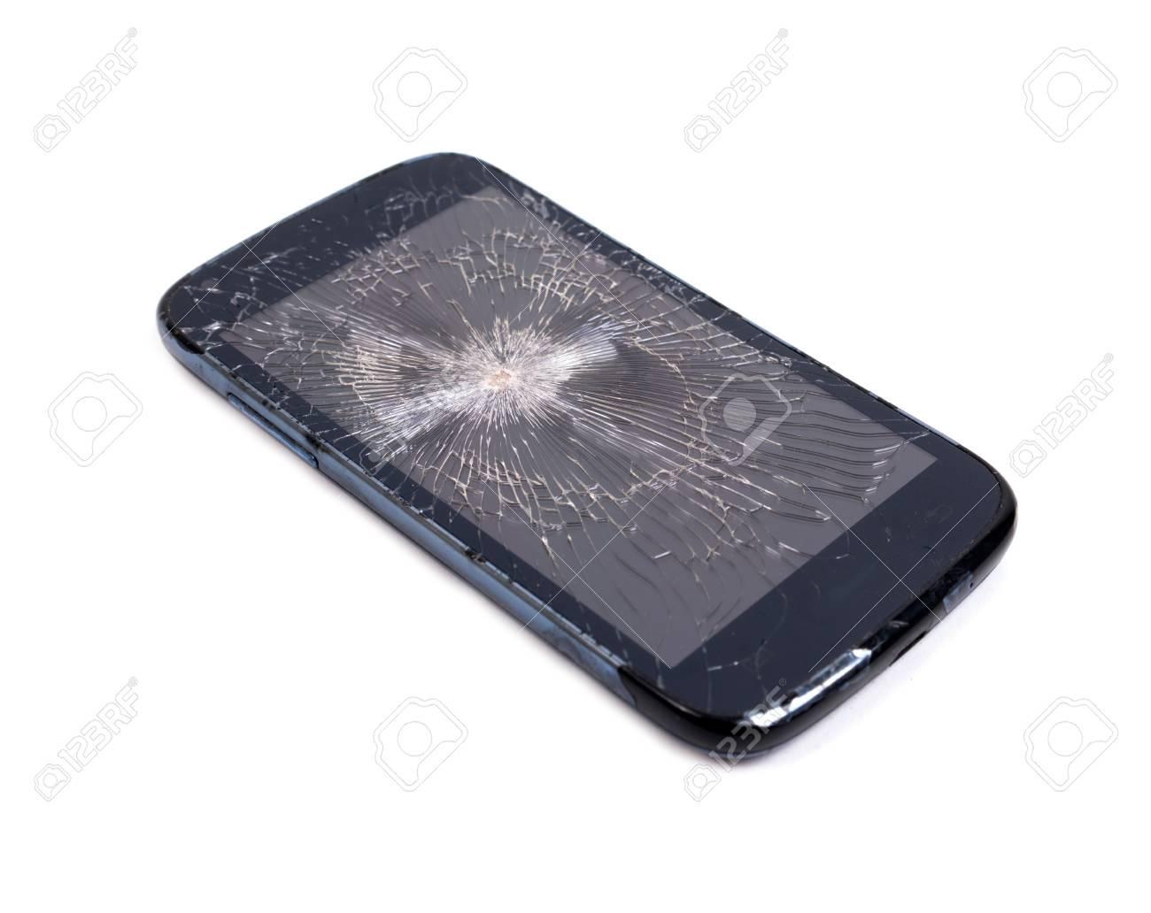 Immagini Stock Lo Schermo Del Telefono Cellulare è Cracking
