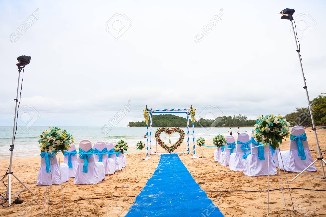 Beach Wedding Decorations Interior Colors Blue Sea Blue Drape