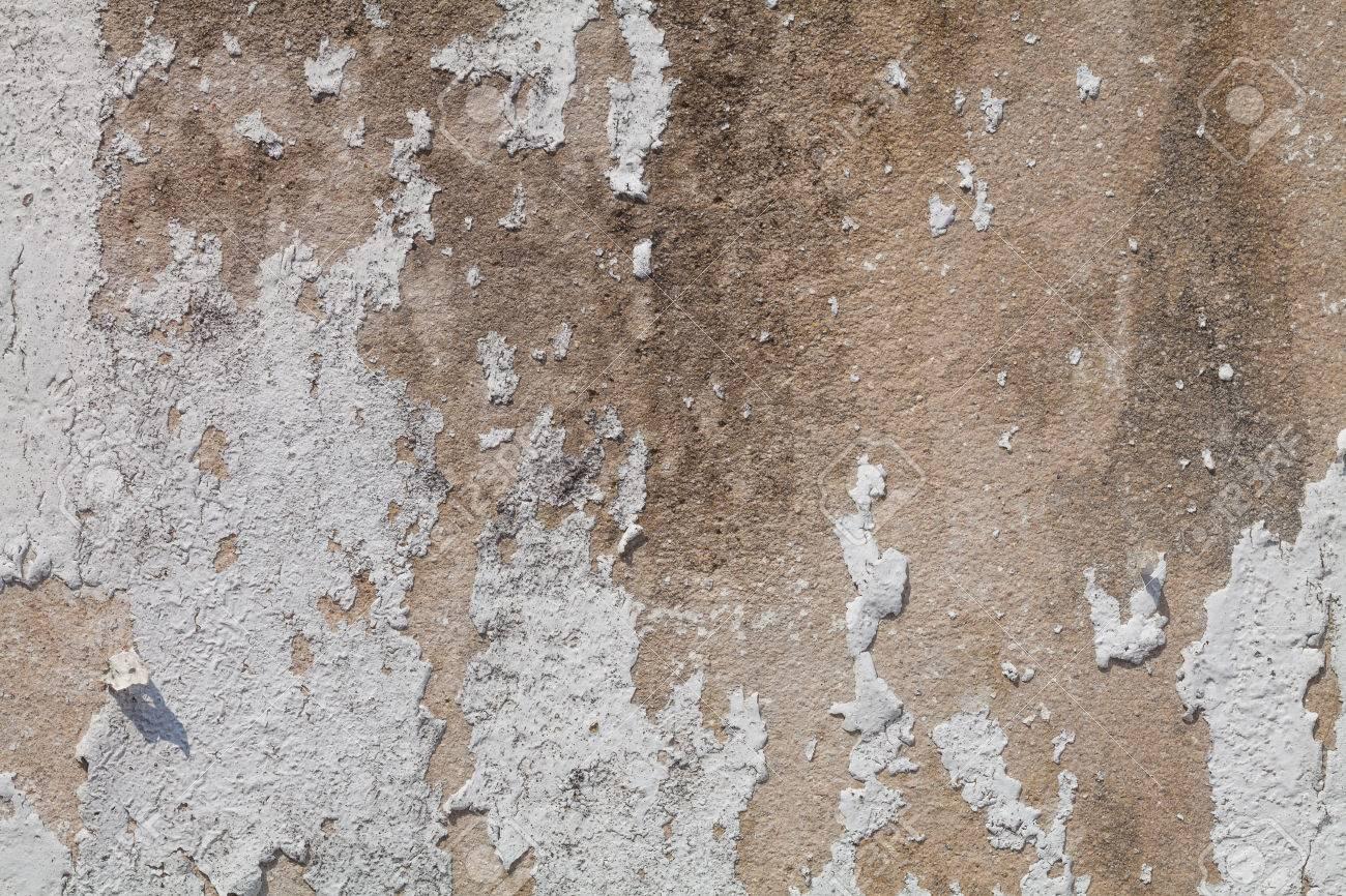Banque Du0027images   Vieux Mur Blanc De Béton. Peinture Des Murs Se écaillait.