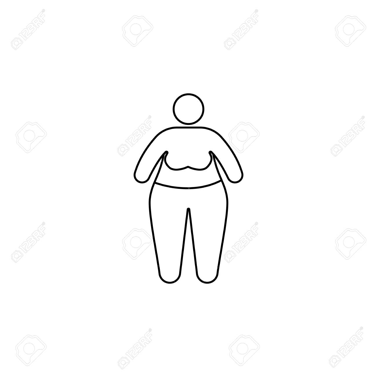 Obesity problems icon  Element of fast food for mobile concept