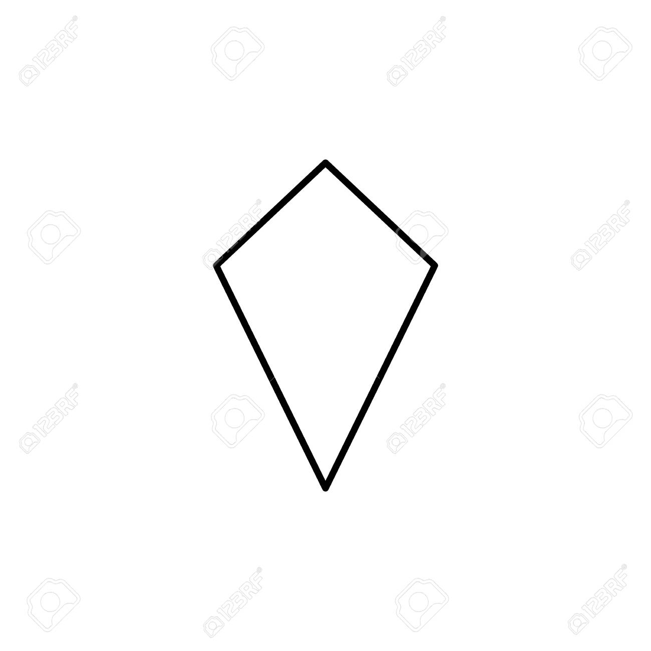 Deltoid Icon, Geometric Figure Element For Mobile Concept And ...