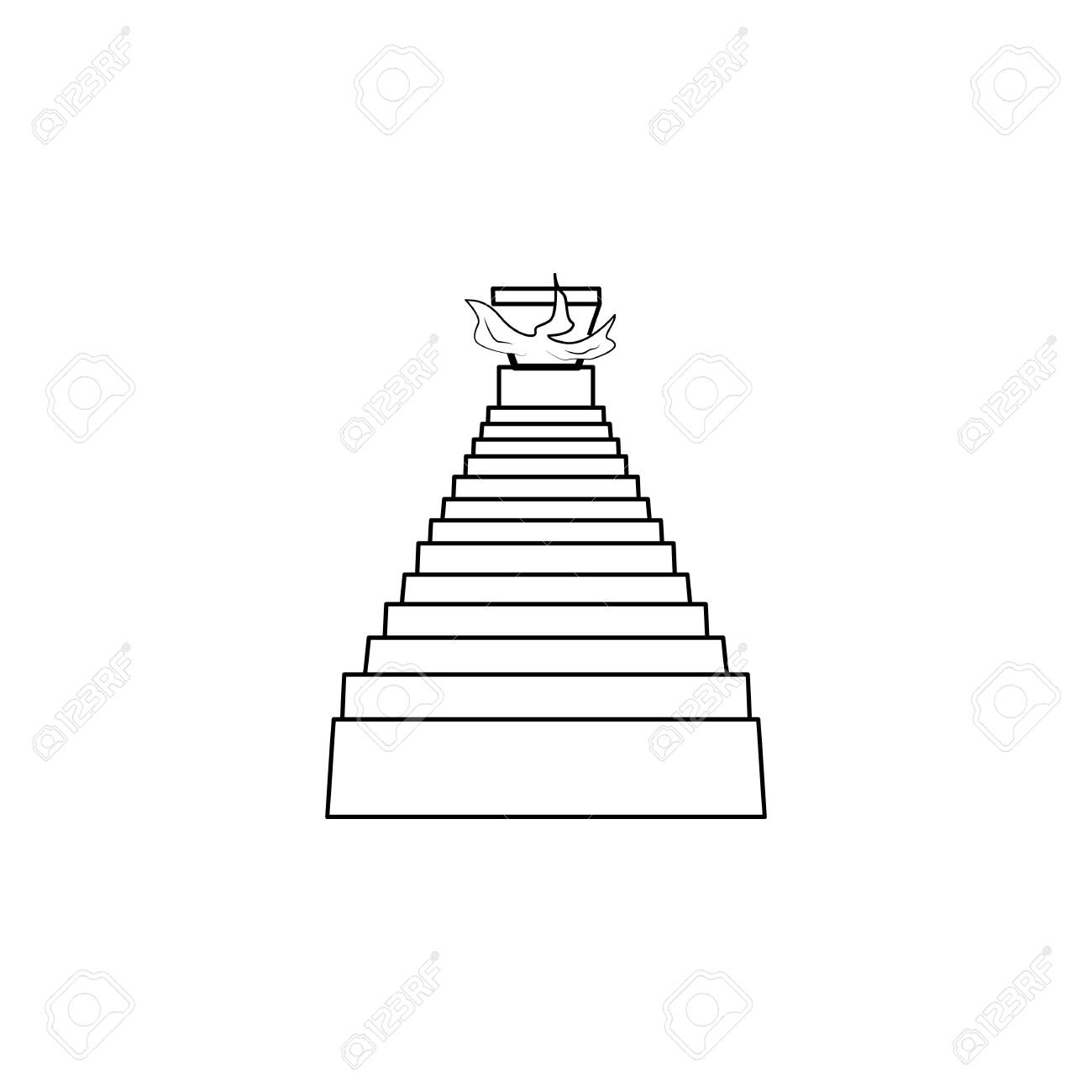 stairs to hell icon. Stairs in our life Icon. Premium quality graphic design. Signs, symbols collection, simple icon for websites, web design, mobile app on white background - 134084597