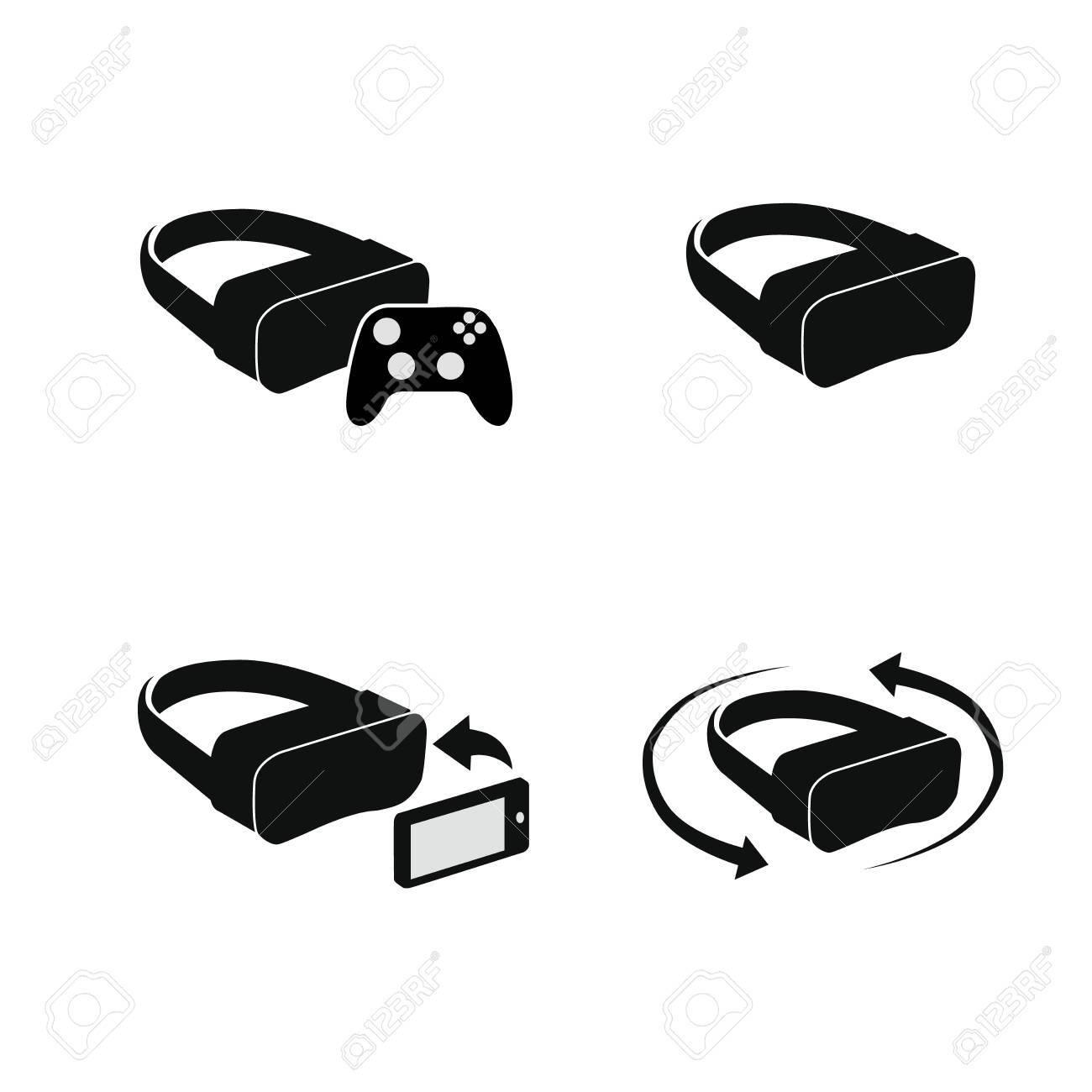 VR Helmets set. Vector illustration - 145325398
