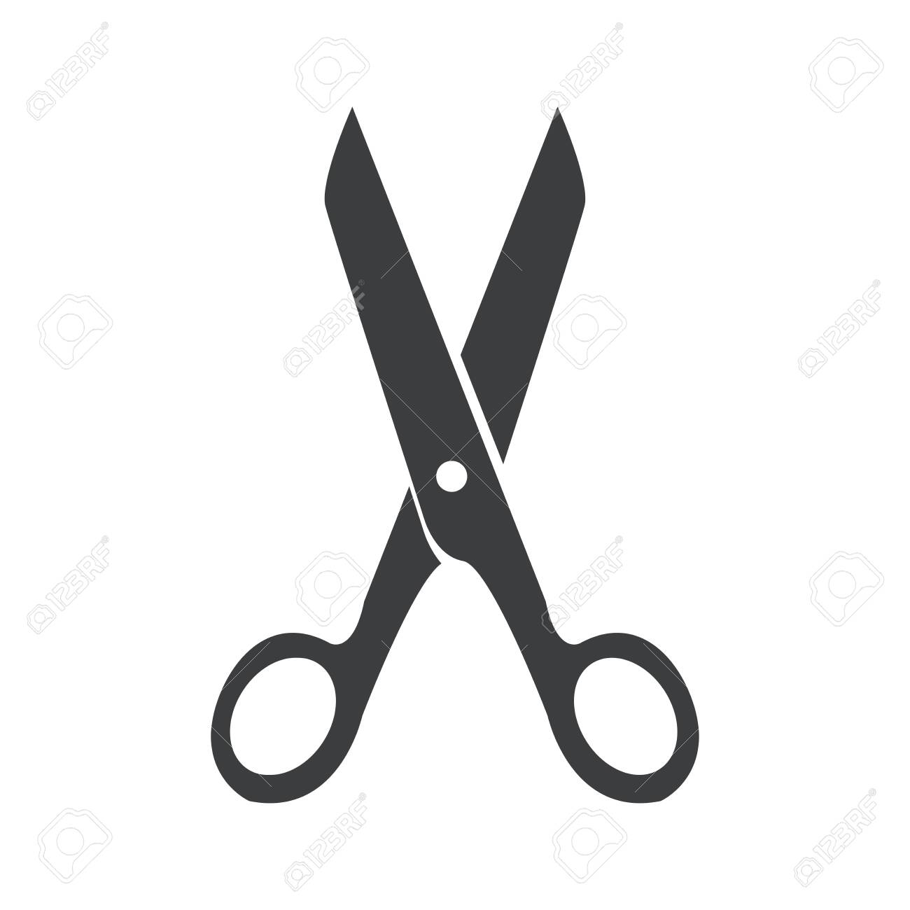 scissors icon on a background - 145699756