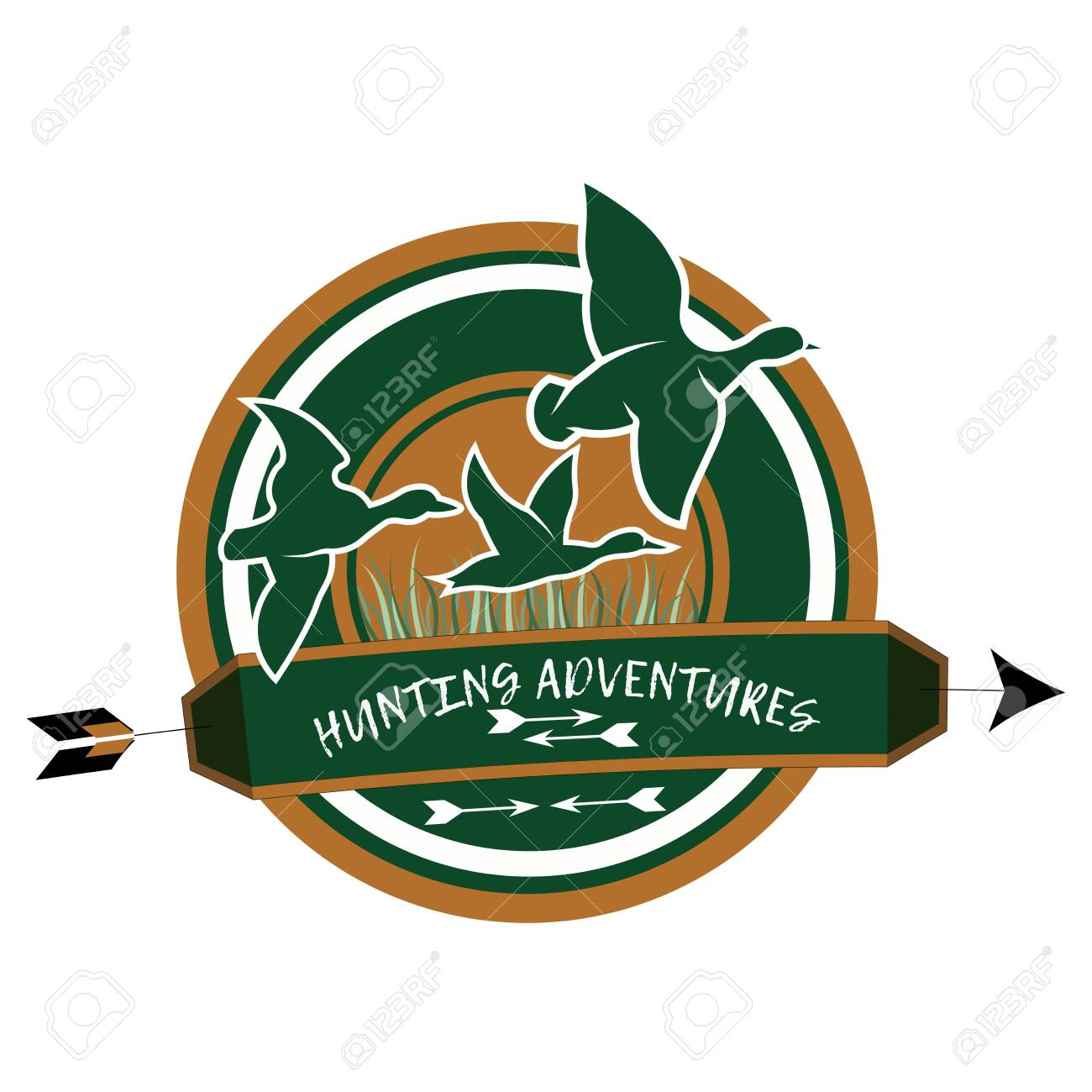 Hunting club logo on a white background - 146132391