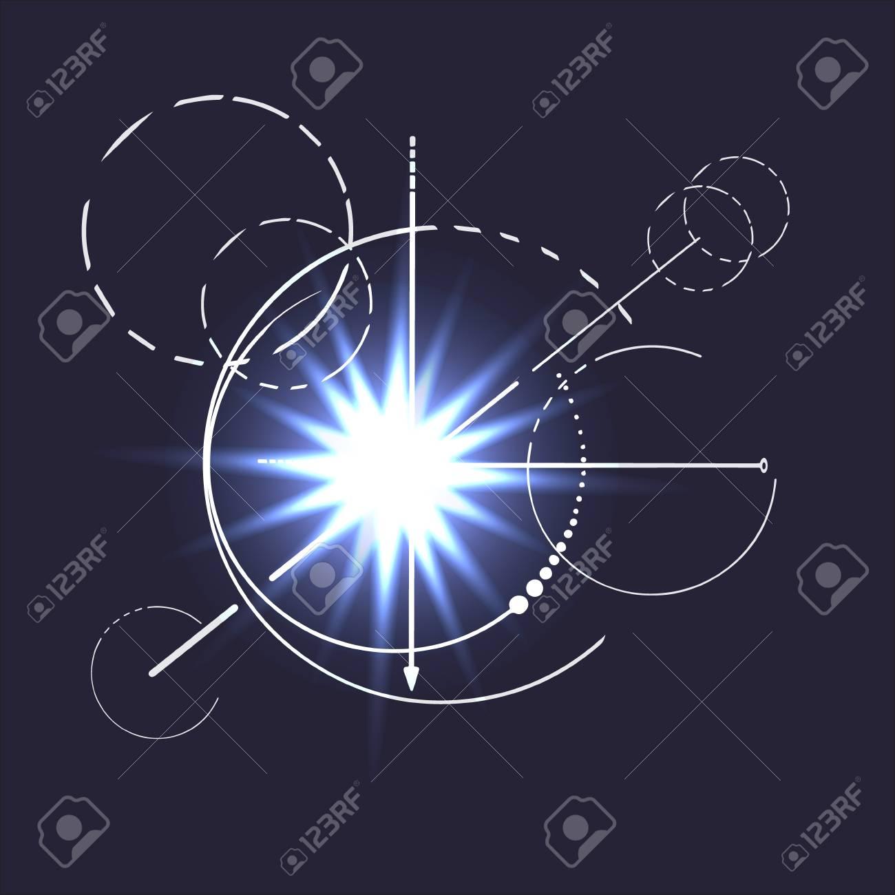 Geometry shine ray star scheme sacred line circle diagram symbol geometry shine ray star scheme sacred line circle diagram symbol on dark background stock vector ccuart Choice Image