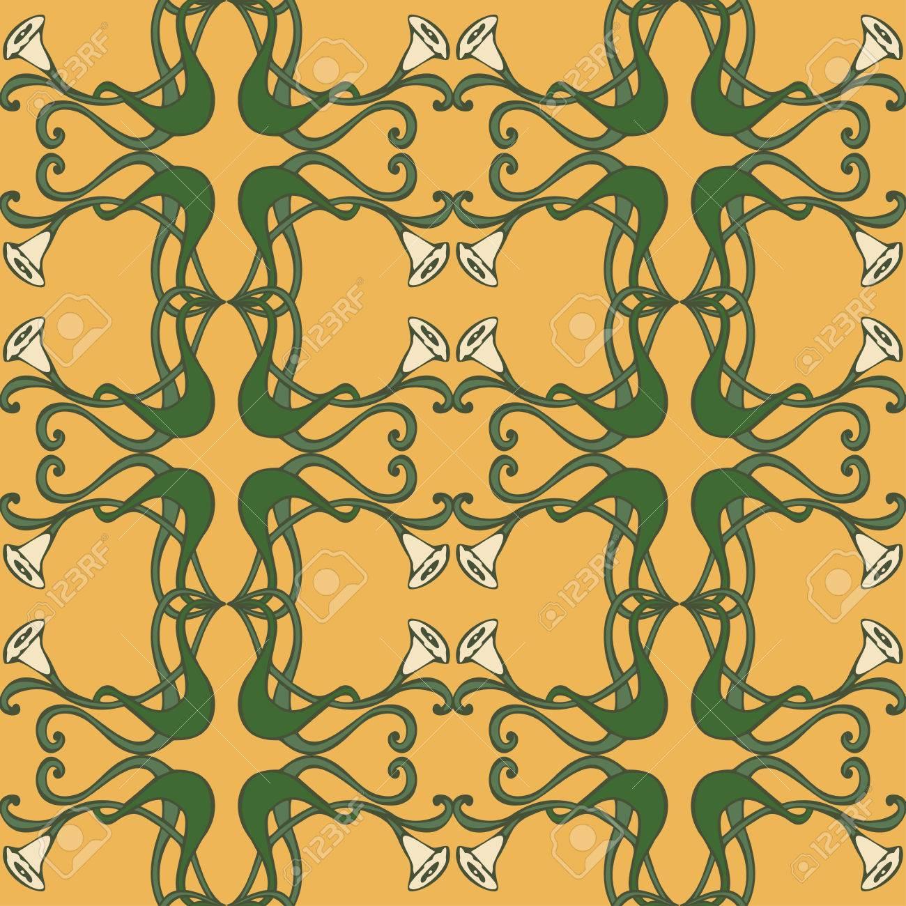 Art deco ornaments - Art Nouveau And Art Deco Floral Ornaments Modern Seamless Pattern Jugendstil Vintage Elements Stock