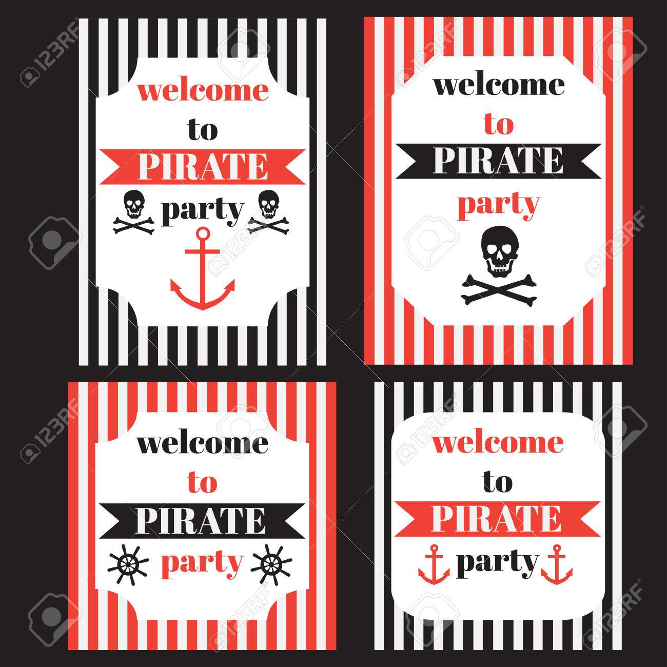 Vintage nautical pirate party invitation nautical marine sailor vintage nautical pirate party invitation nautical marine sailor elements stock vector 51985941 stopboris Gallery