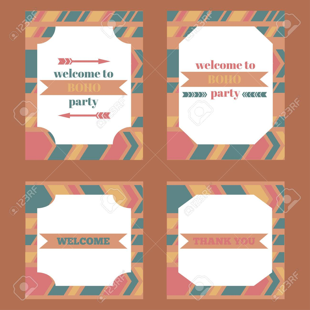 photo about Printable Elements titled Printable tribal established of typical boho celebration products. Templates,..