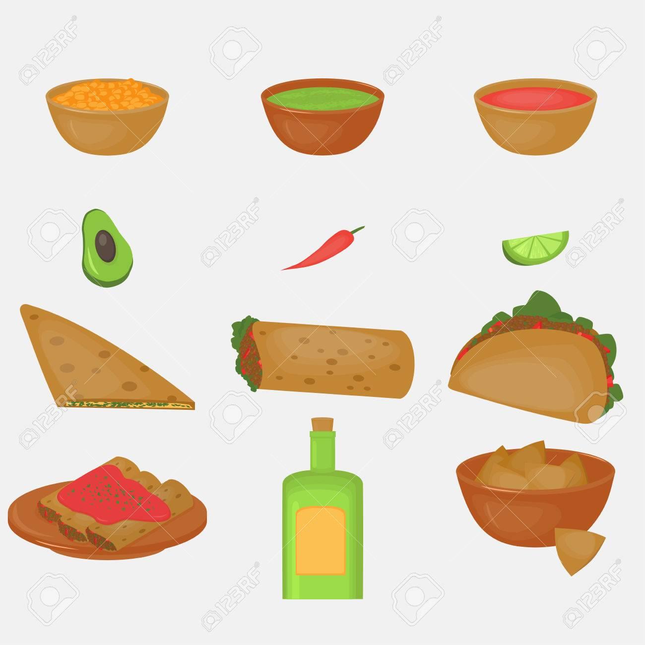 Mexikanische Traditionellen Speisen-Set, Traditionelle Küche Von ...