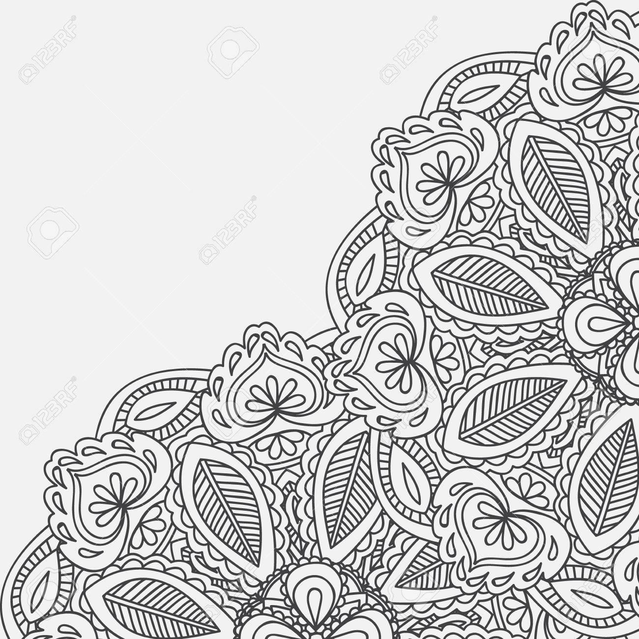 Henna Mehndi Card Template Mehndi Invitation Design Element