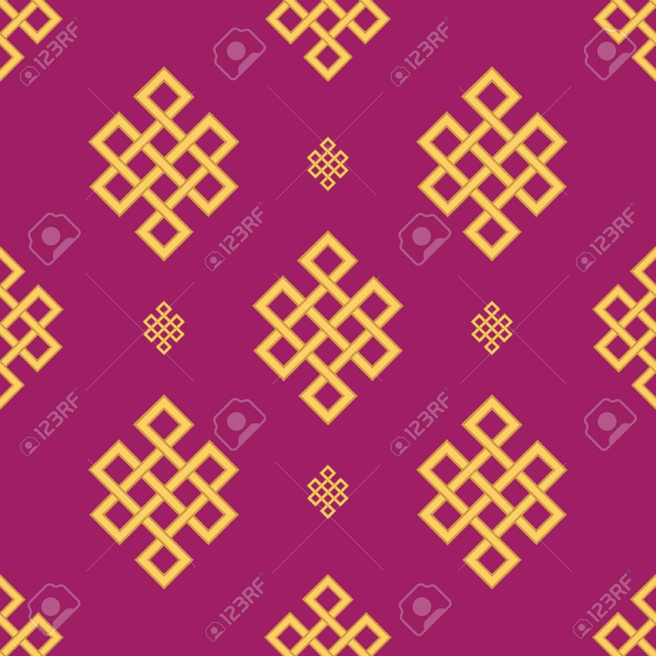 Endless Auspicious Knot Setina Ornamentsymboltibet Eternal