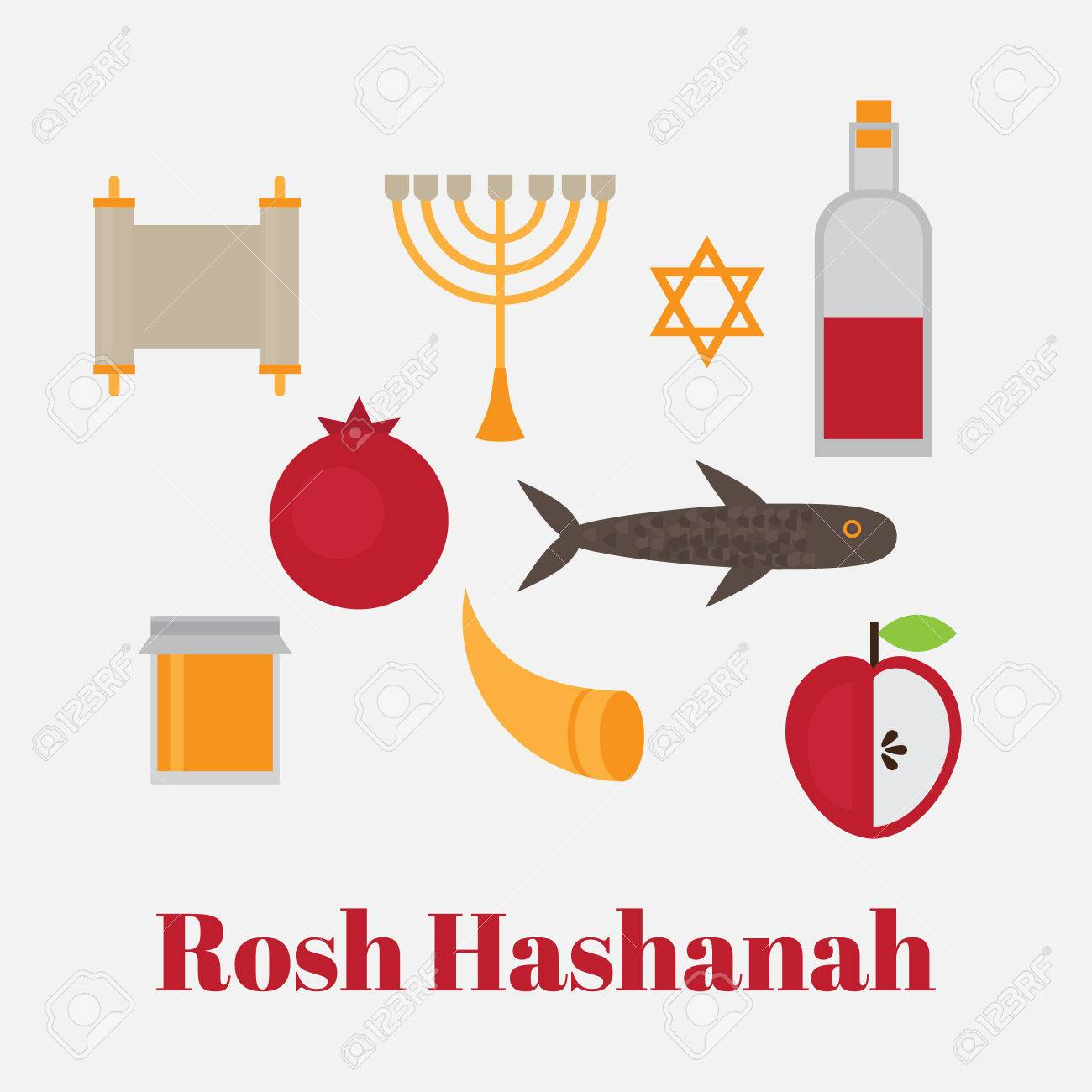 Rosh hashanah jewish new year greeting card hebrew symbols rosh hashanah jewish new year greeting card hebrew symbols judaism elements judaic religion kristyandbryce Choice Image