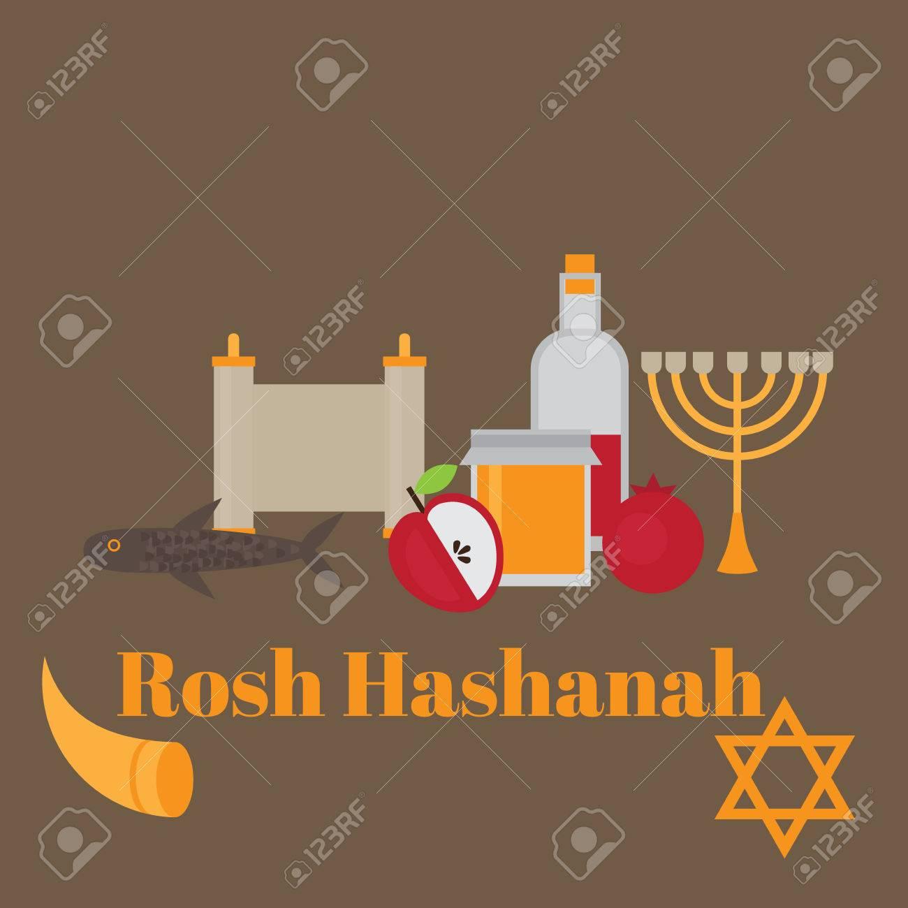 Rosh hashanah jewish new year greeting card hebrew symbols rosh hashanah jewish new year greeting card hebrew symbols judaism elements judaic religion m4hsunfo