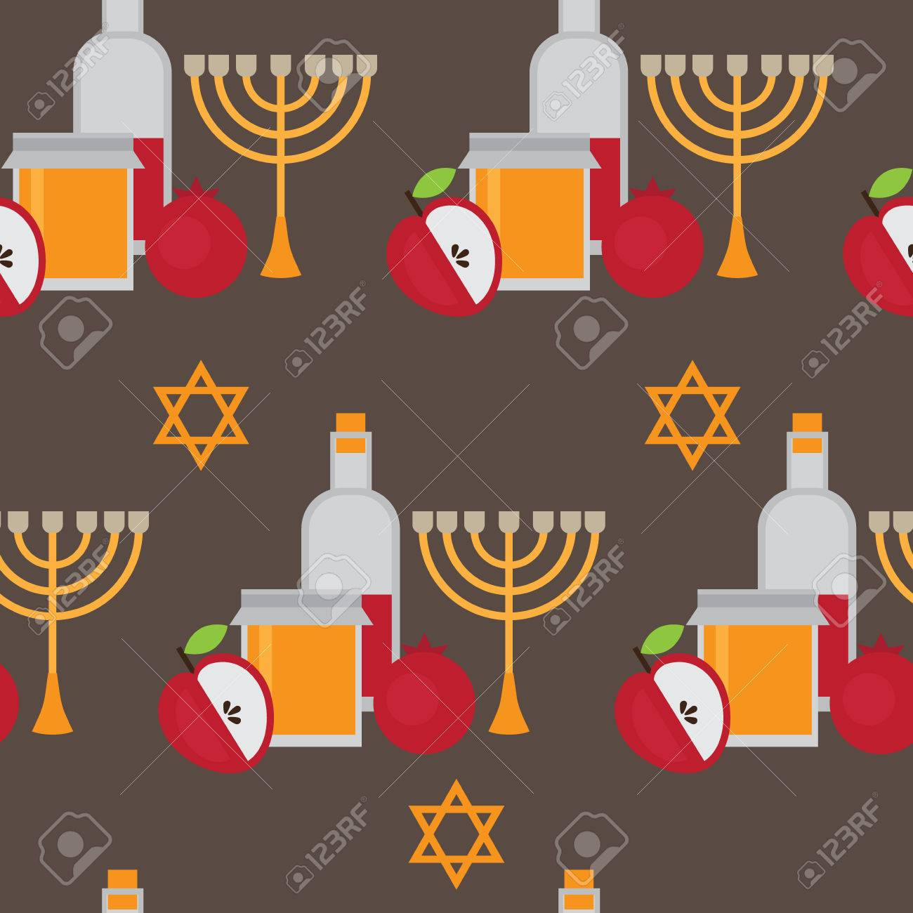 Happy Jewish New Year Greetings Images Greetings Card Design Simple