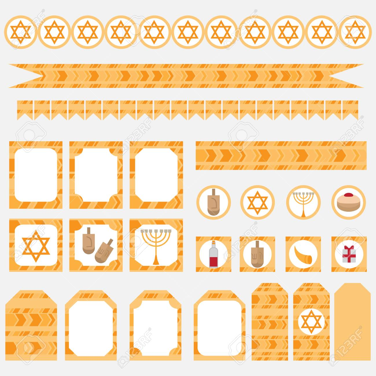 image about Printable Elements referred to as Printable established of Jewish holiday vacation Hanukkah bash resources. Templates,..
