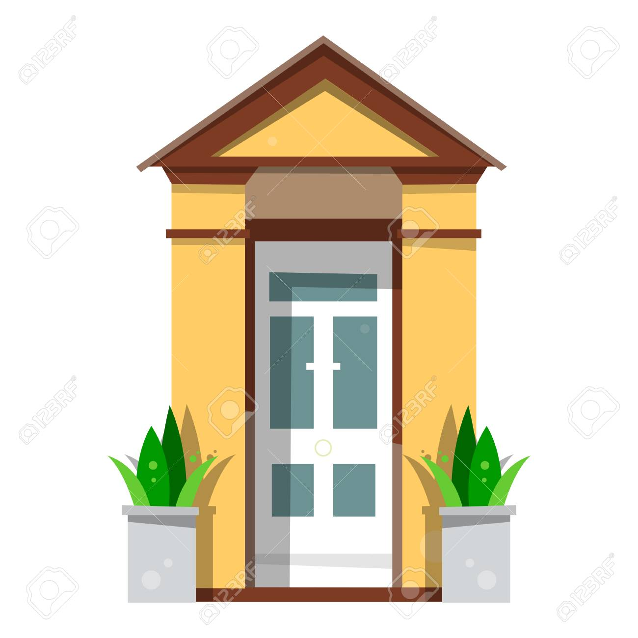 the beautiful front door design wooden doors in the house vector rh 123rf com house vector free eps house vector icons