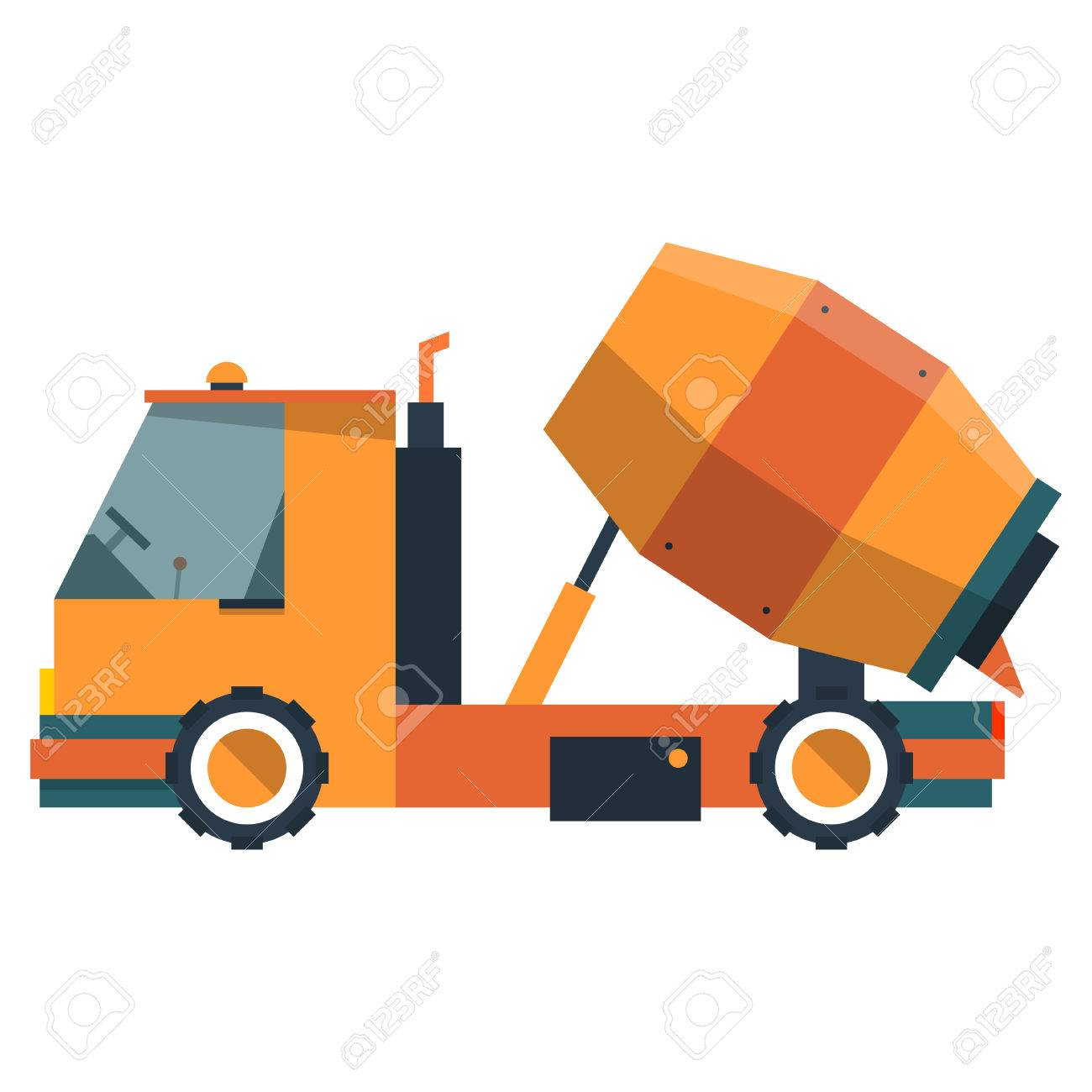 Construction Equipment For Pouring Of Cement Vector Illustration On A