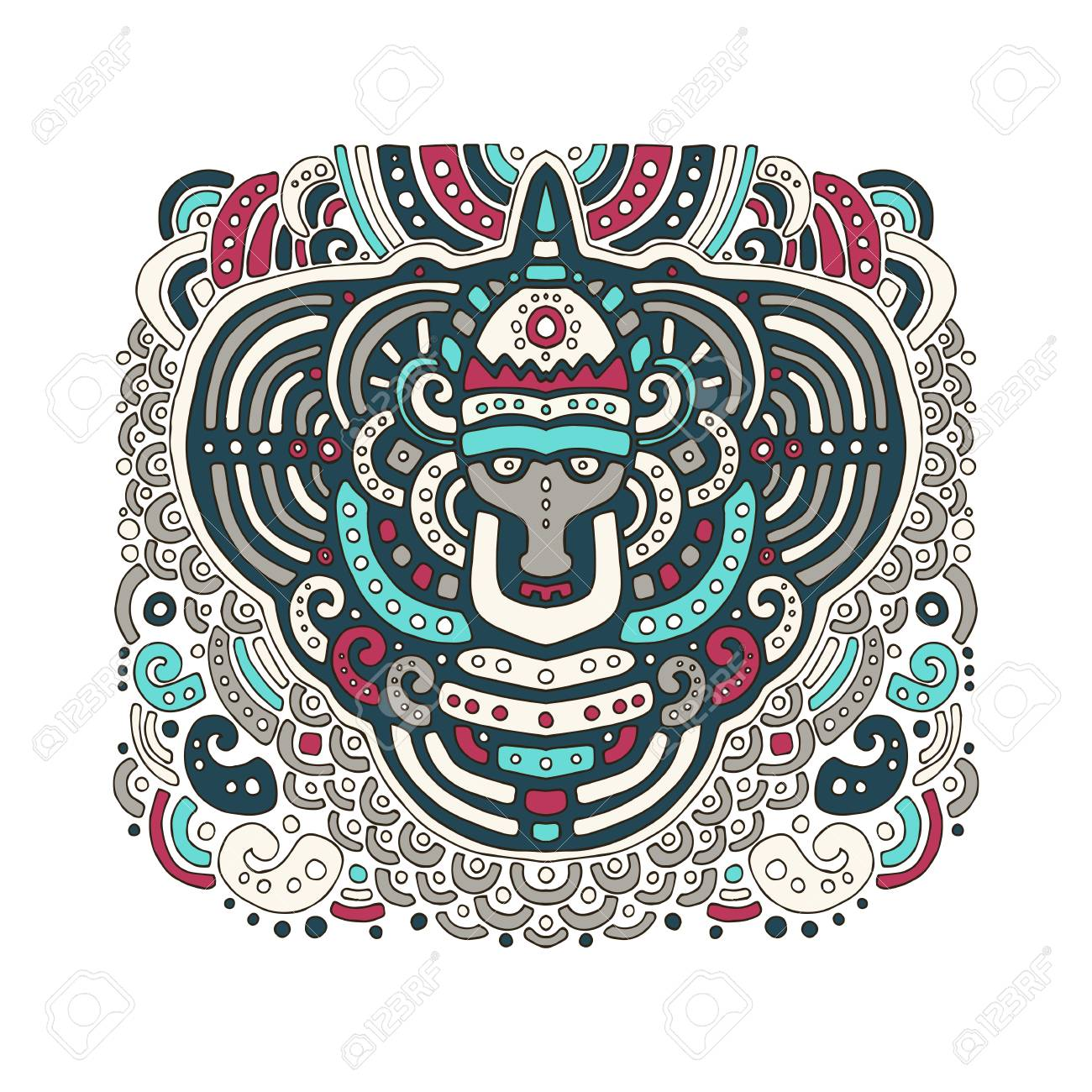 Ethnic African Pattern In Graphic Style. Vector Illustration For ...