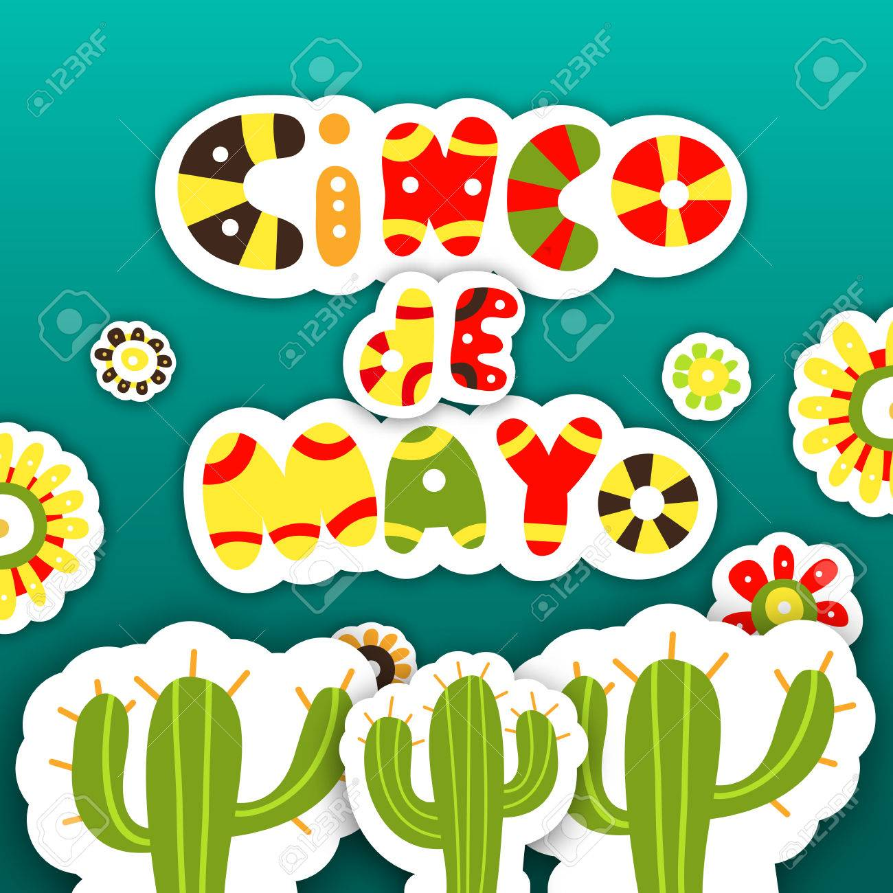 cinco de mayo template cards for the mexican holiday vector