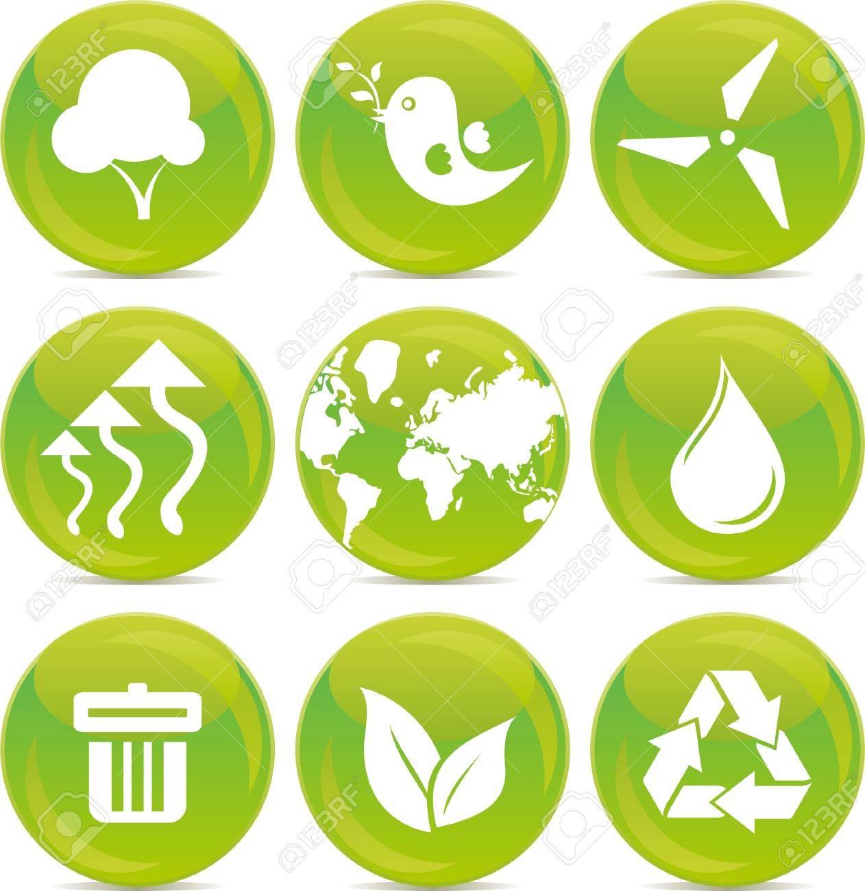 environmental icons Stock Vector - 10952147