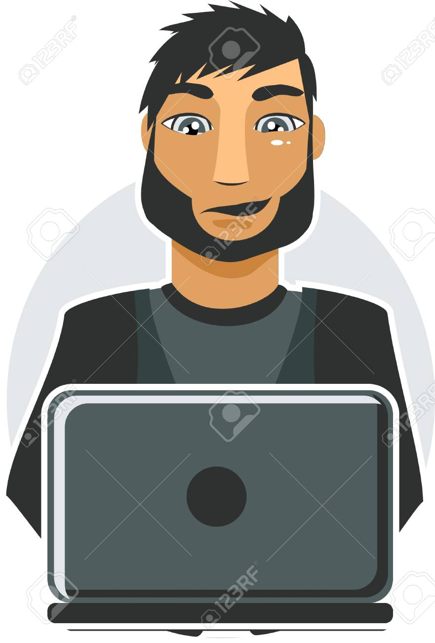computer worker Stock Vector - 11072303