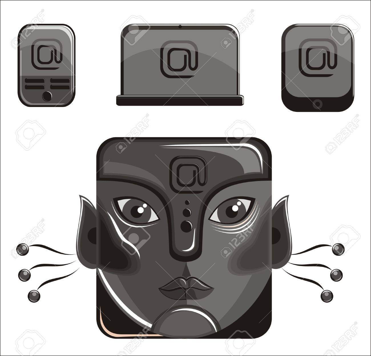 Totem face Stock Vector - 11840115