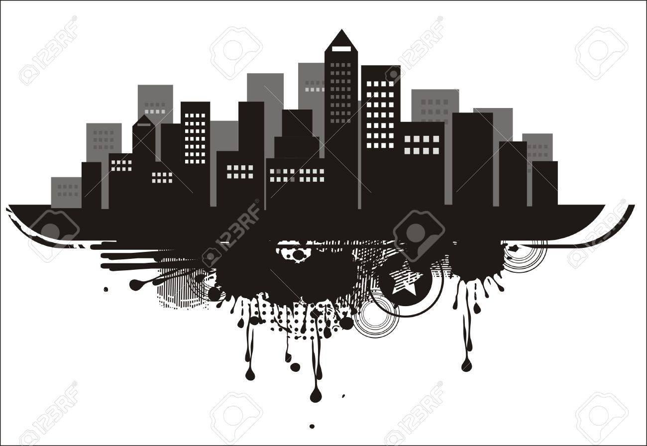 city silhouette background Stock Vector - 11898405