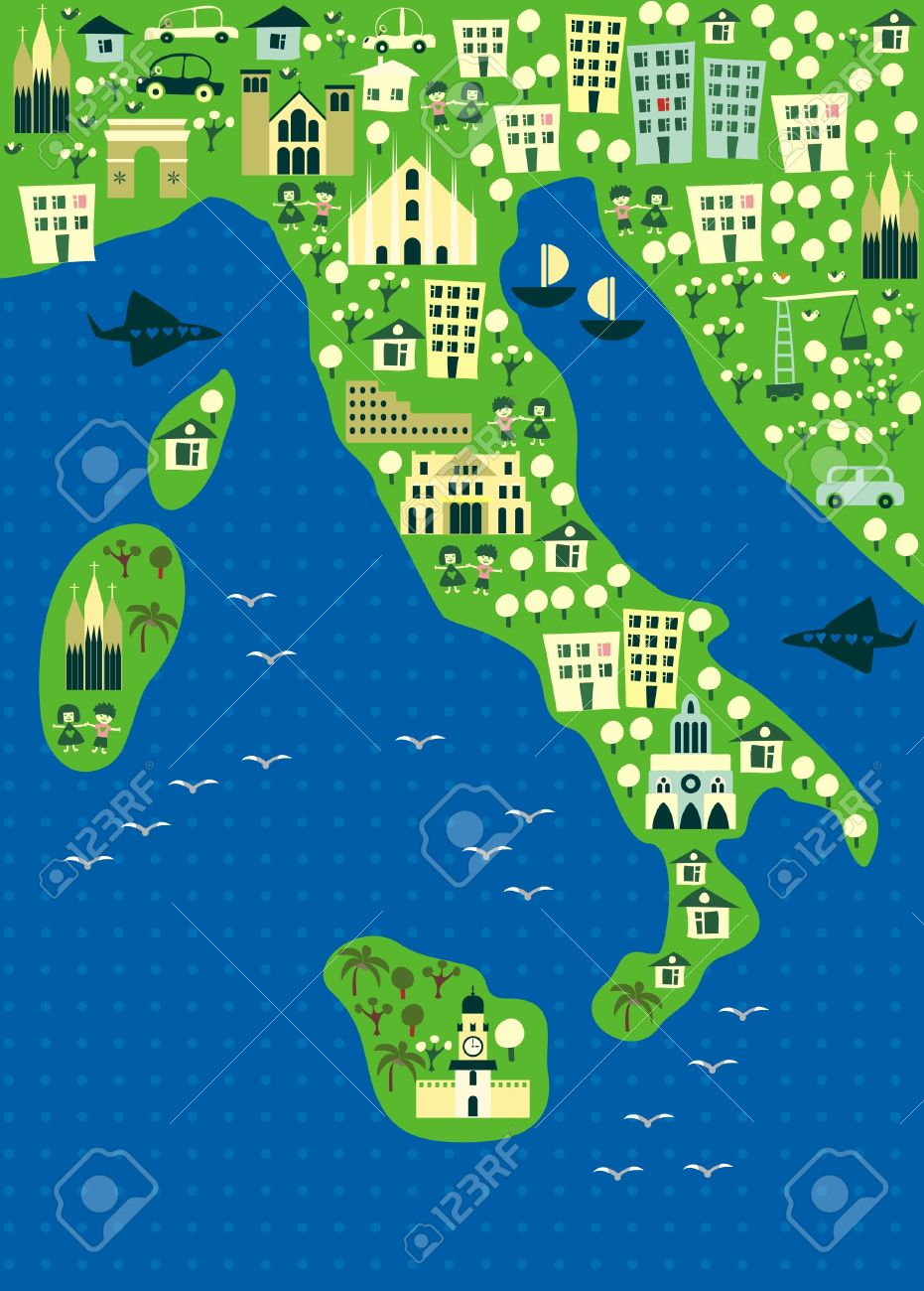 Rome Map Stock Vector Illustration And Royalty Free Rome Map - Rome map cartoon