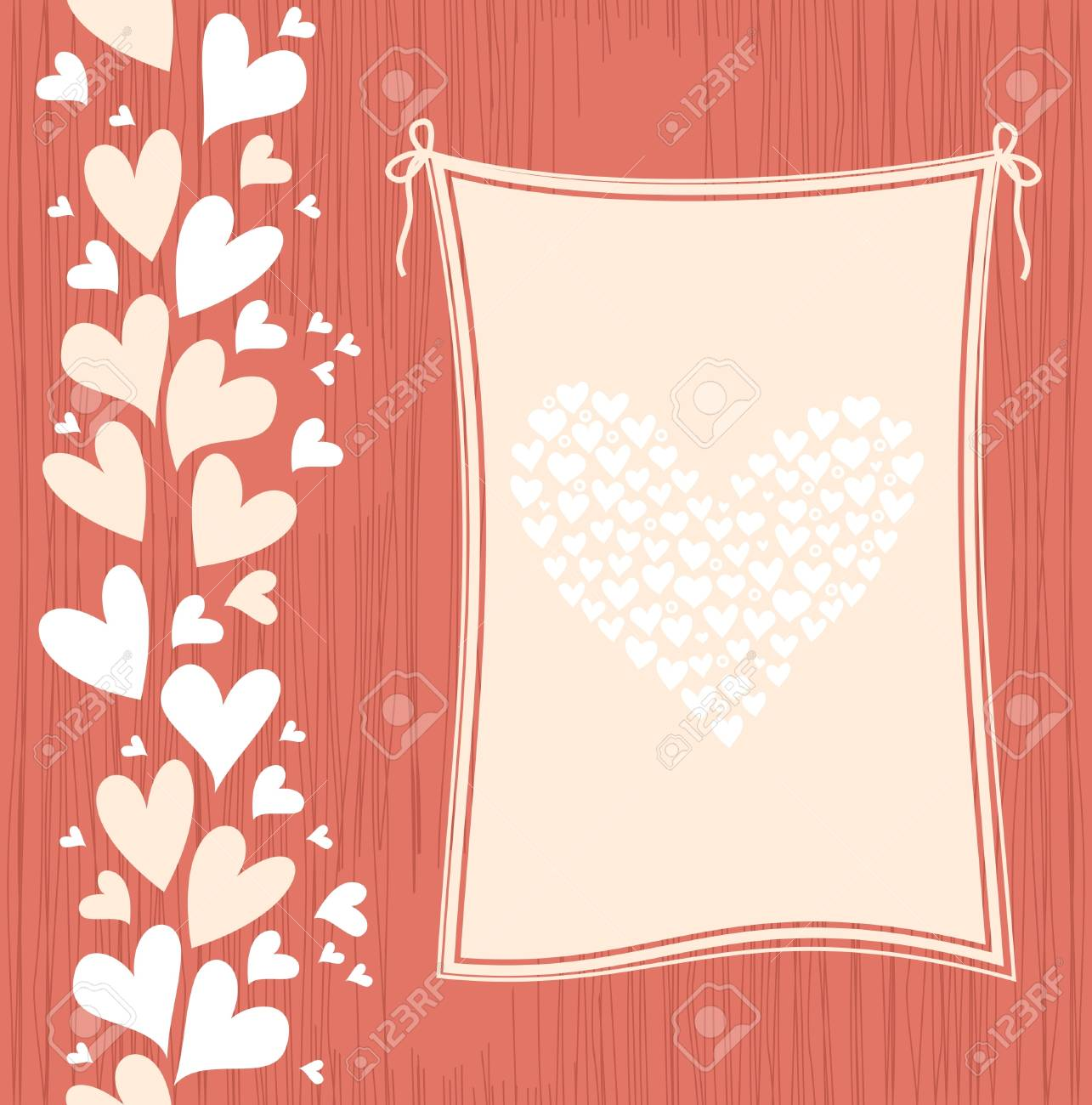 banner with hearts Stock Vector - 12373967