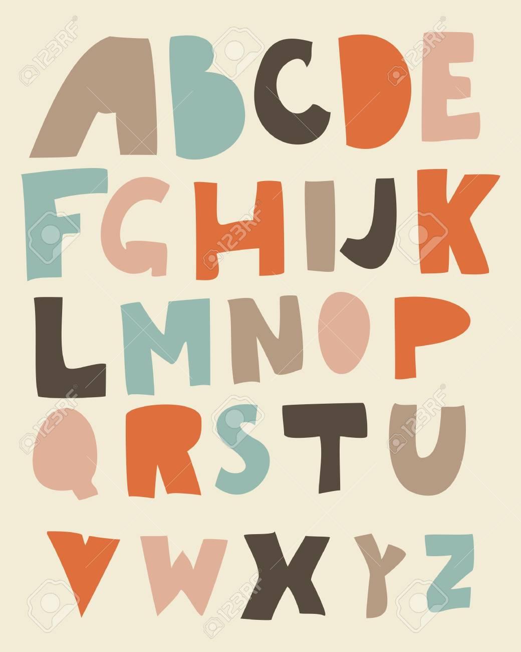 funky retro alphabet in vector Stock Vector - 13576893