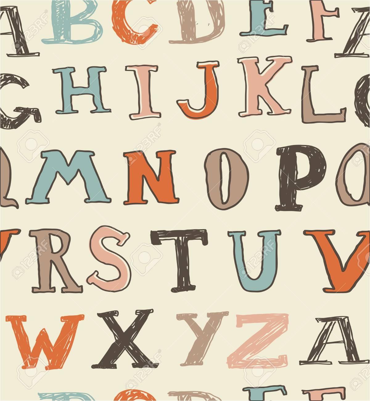 seamless english alphabet Stock Vector - 15007824