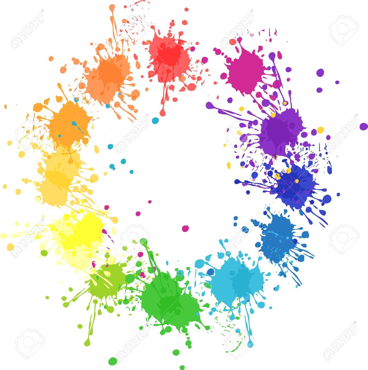 Color Wheel With Flat Colors Without Transparency Stock Vector