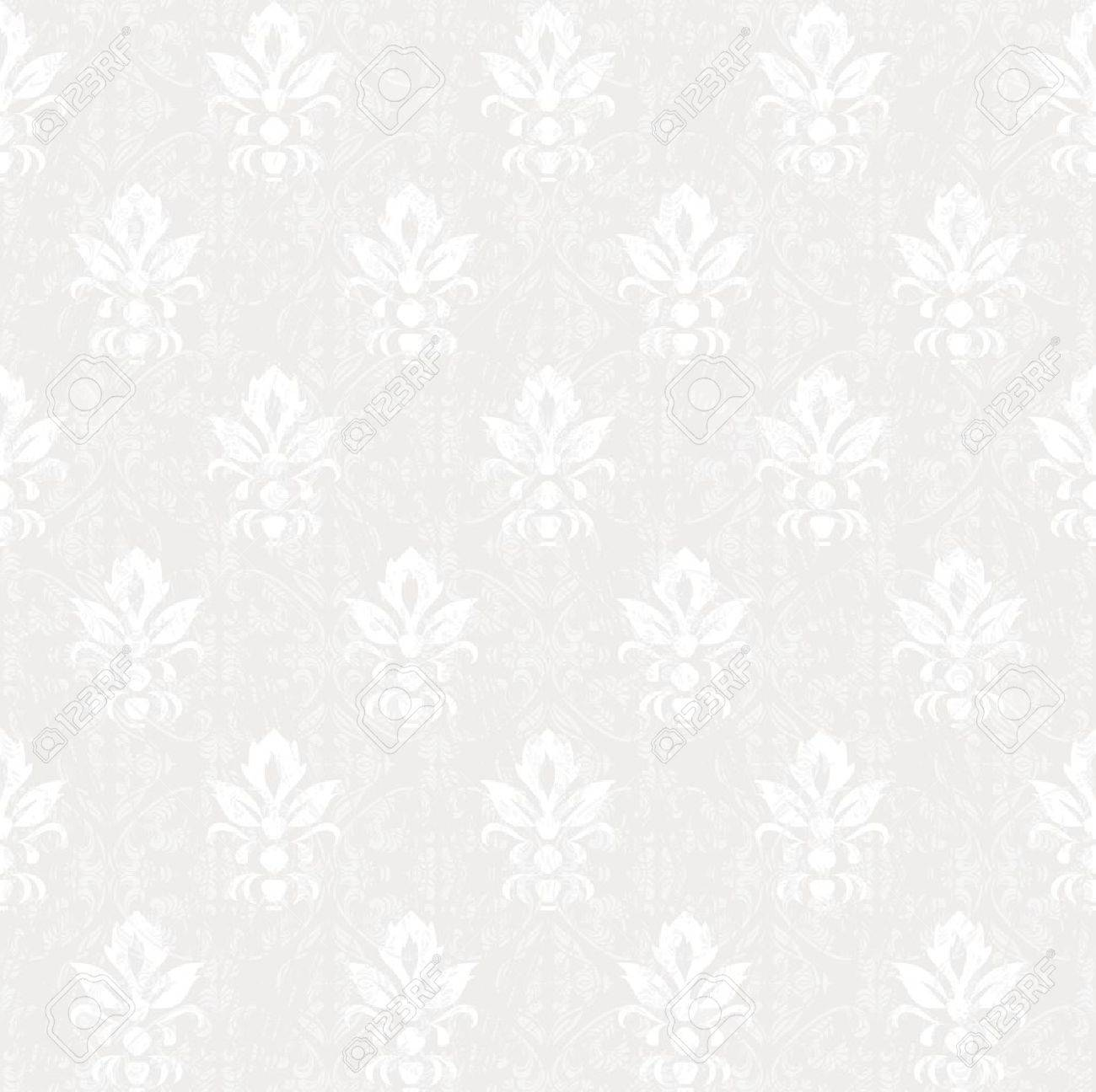 silver colored vintage seamless pattern Stock Vector - 15007904