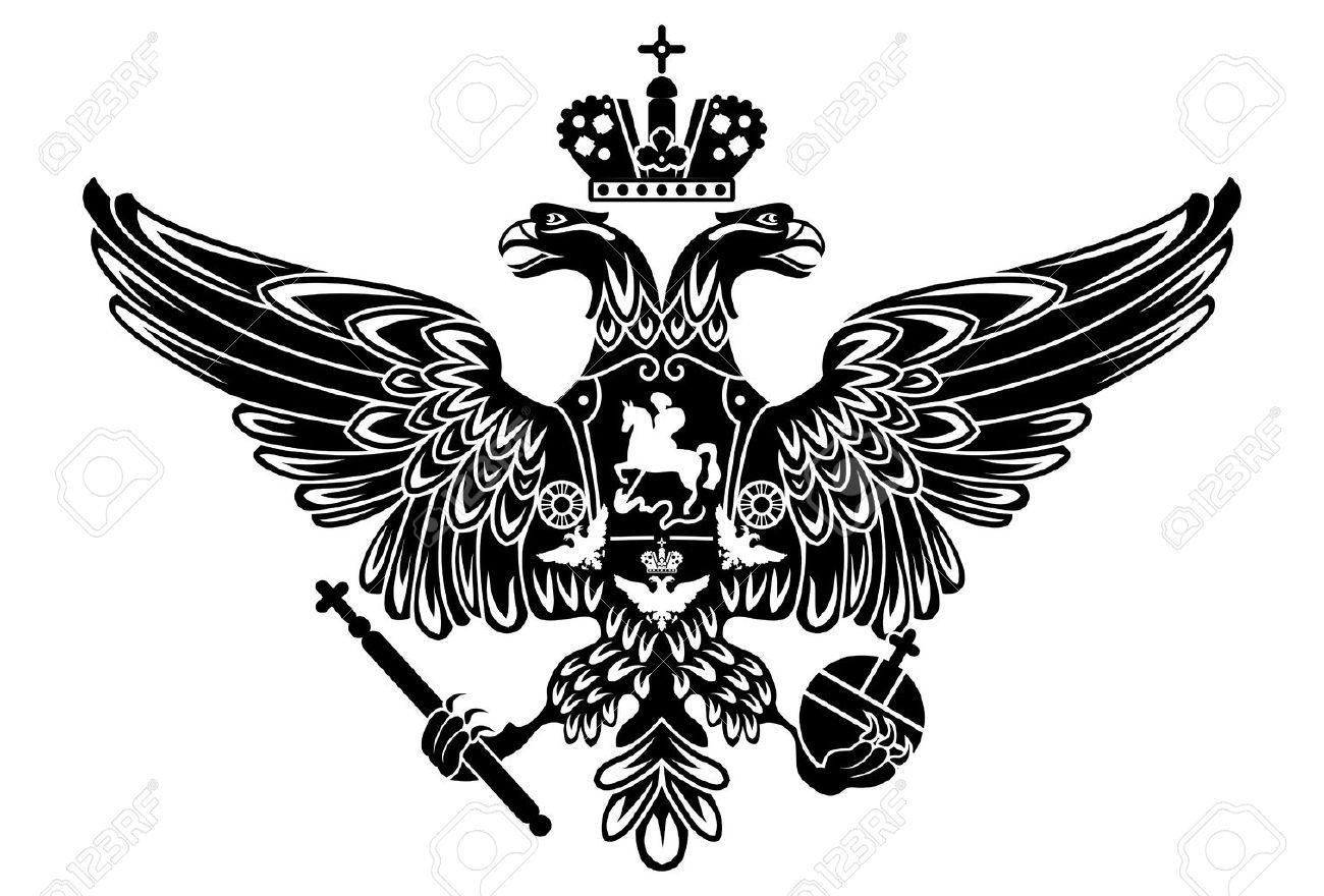 Russische Wappen Doppeladler Wappen. Symbol