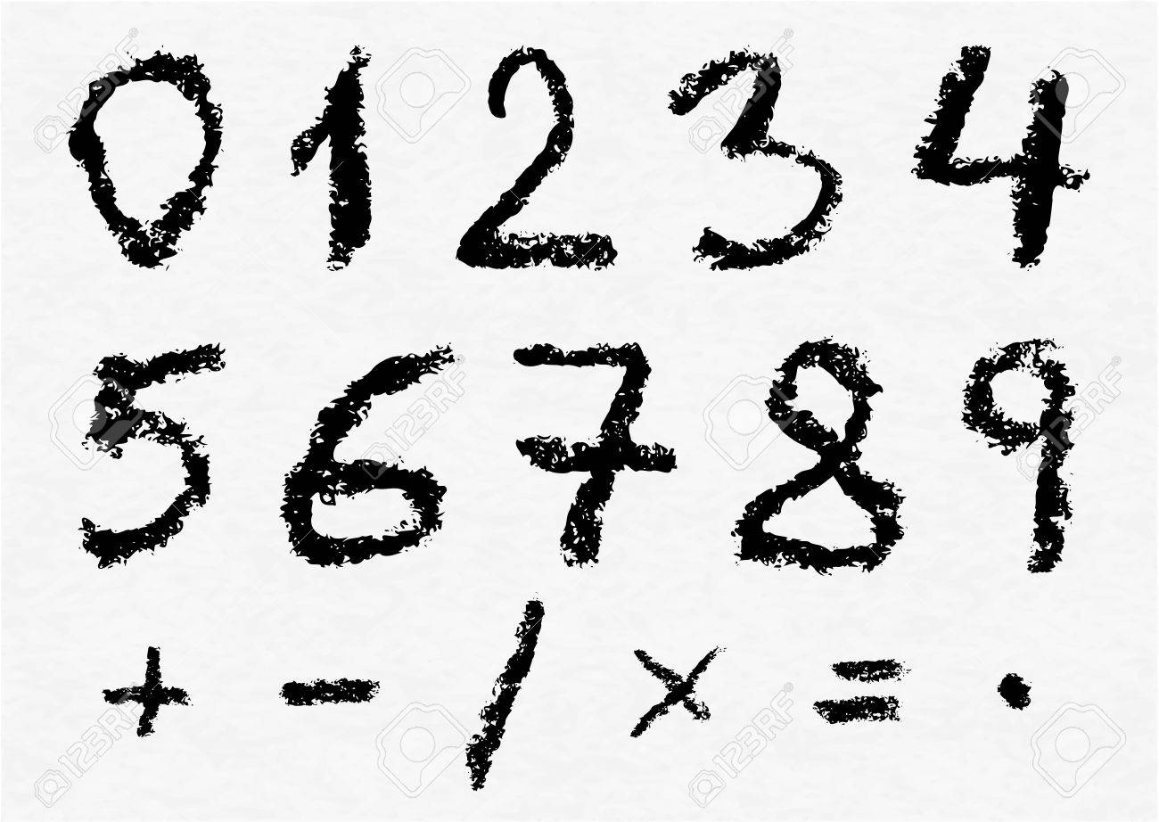 Hand written vector charcoal numbers 0 1 2 3 4 5 6 7 hand written vector charcoal numbers 0 1 2 3 4 5 biocorpaavc