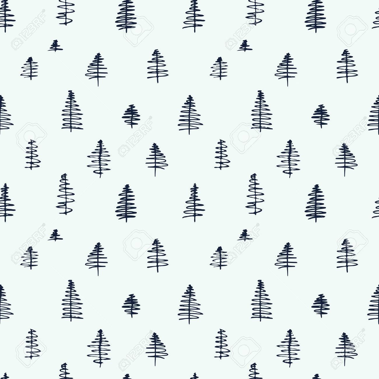 Patrones De Costura De Dibujos Animados Simples Lindo Con árboles ...