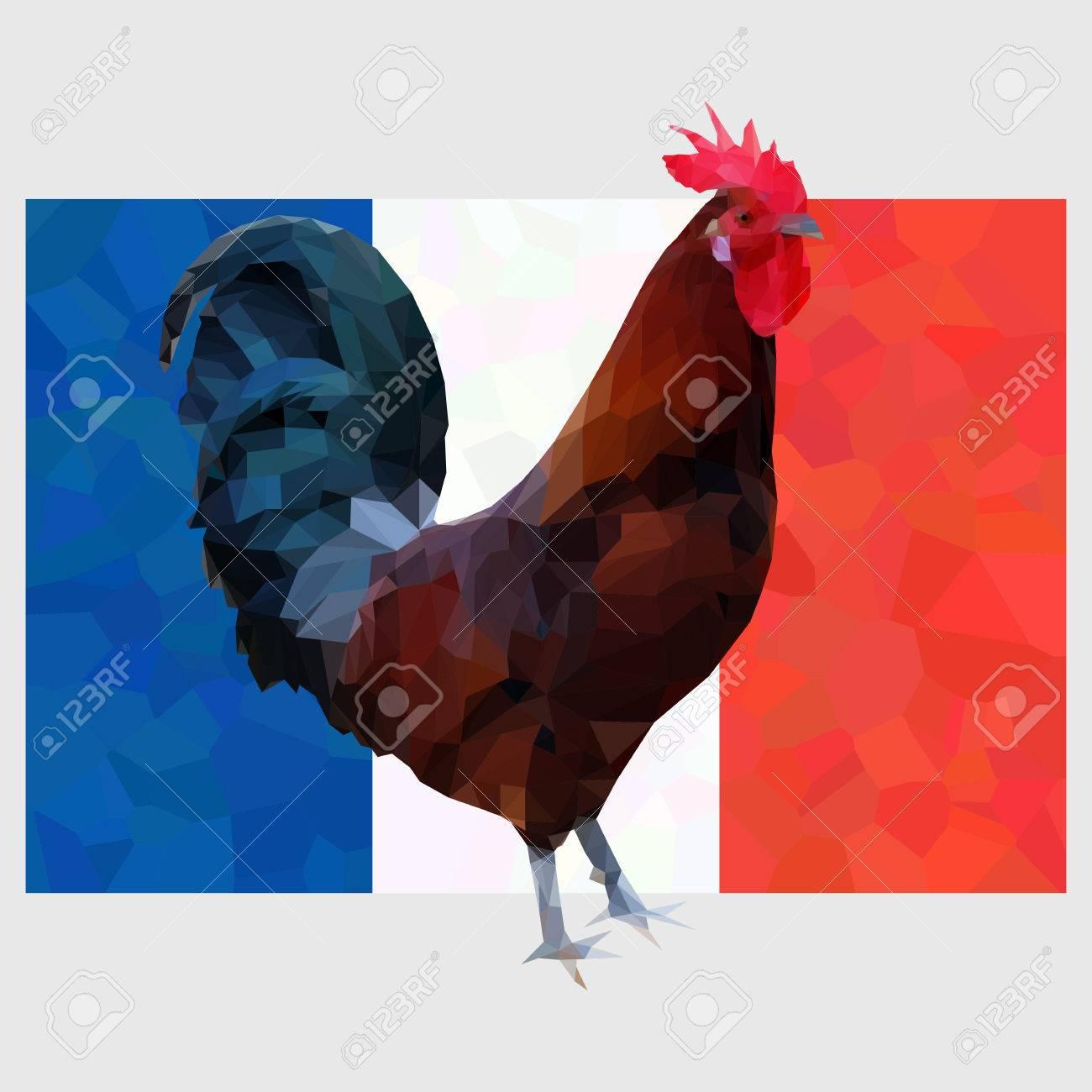 [Football] Coupe du Monde 2018 - Page 21 51770704-Illustration-du-coq-gaulois-polygonale-sur-un-fond-de-drapeau-fran-ais-Symbole-de-la-France-le-Coq-G-Banque-d'images