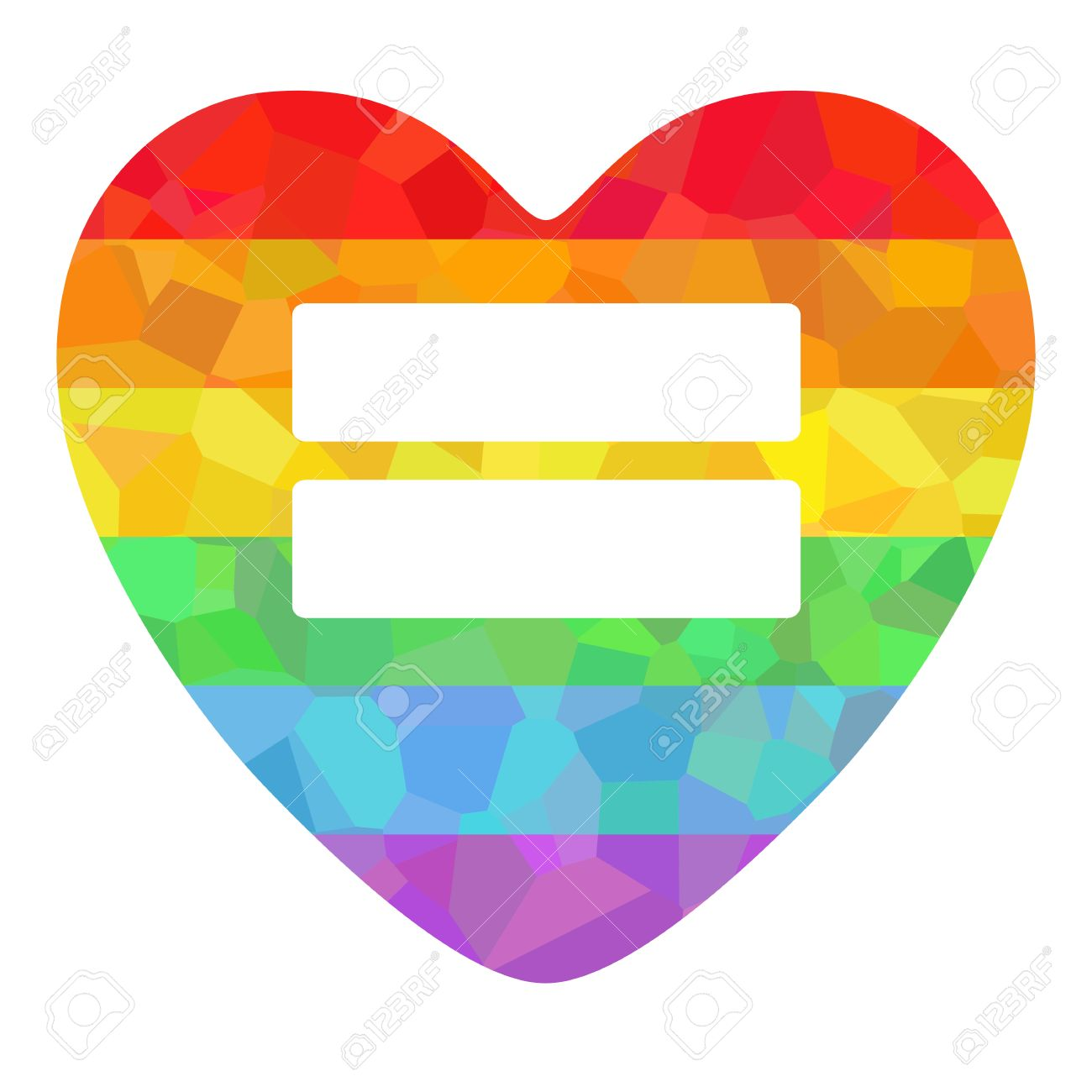 conceptual decorative poster with lgbt support symbol rainbow