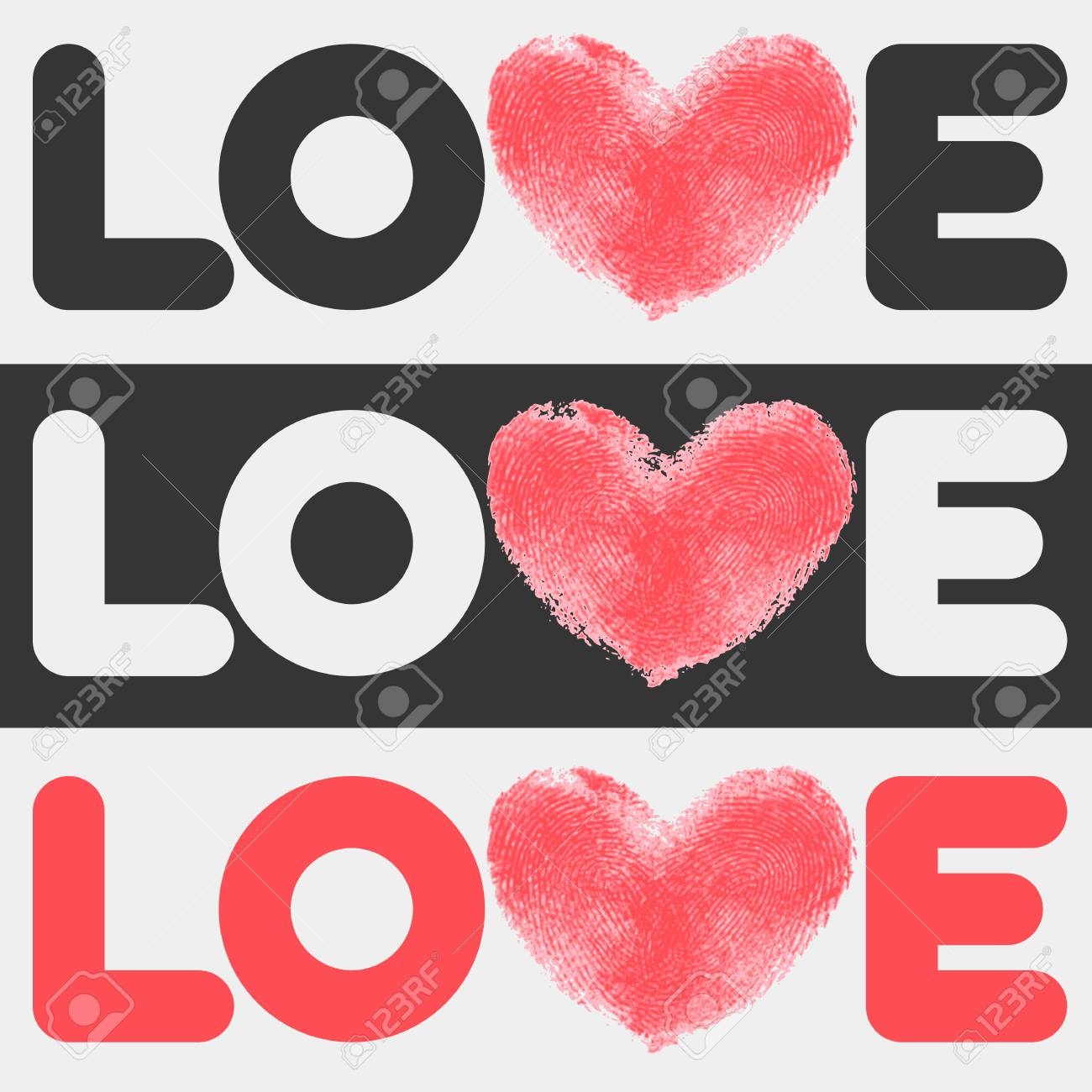 Simple Flat LOVE Design. Conceptual Poster With Love Logo Template ...