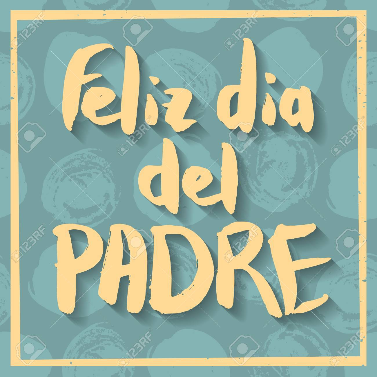 happy fathers day greeting card spanish phrase feliz dia del