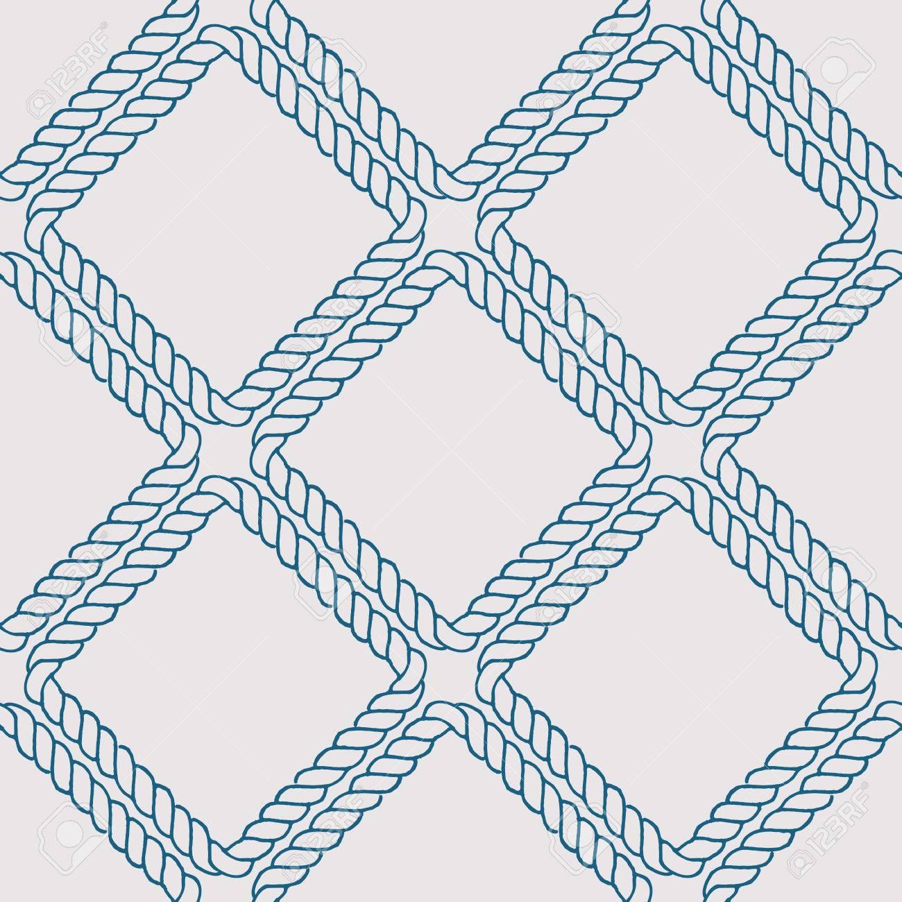 Vettoriale Senza Soluzione Di Continuità Nautica Modello Corda