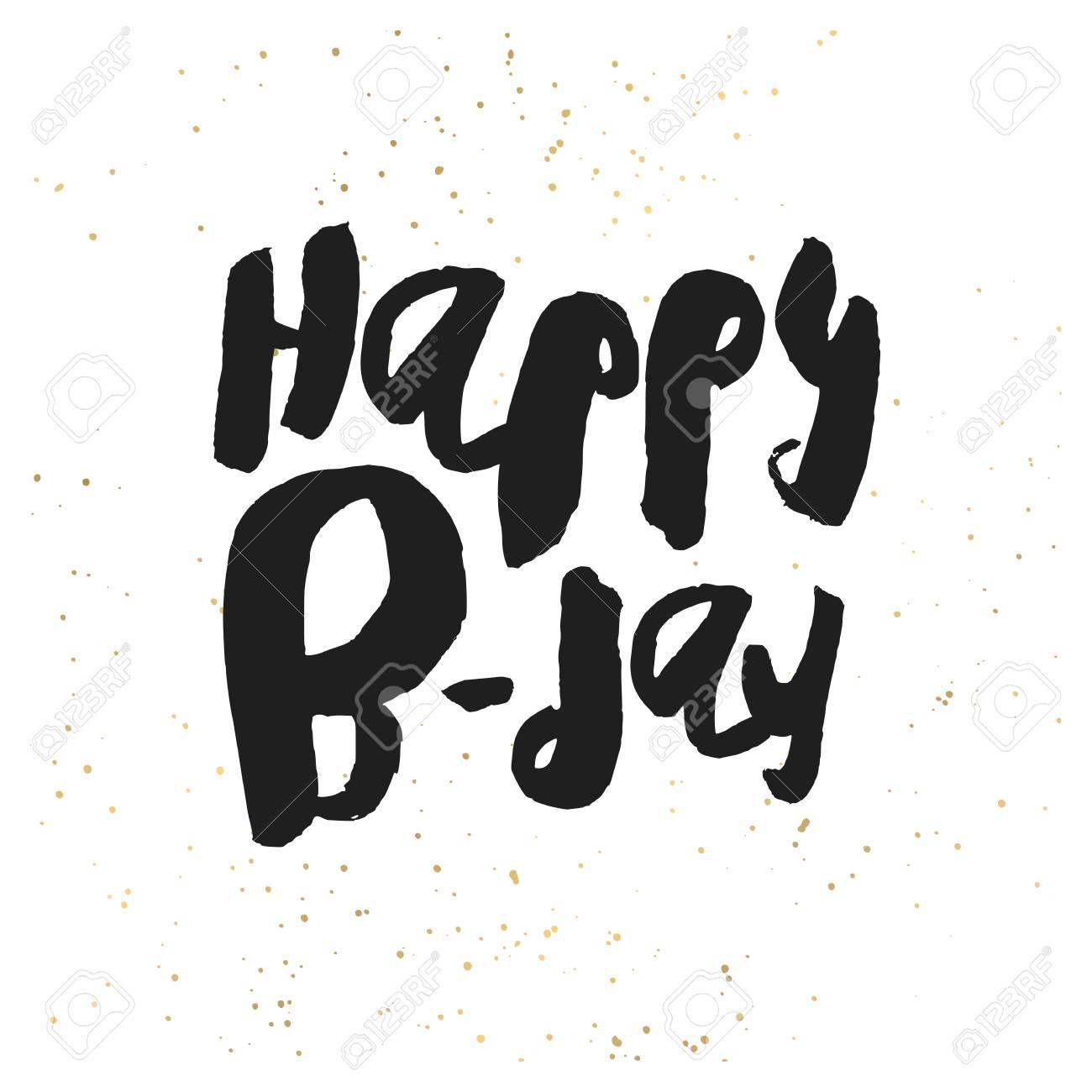 creative happy birthday card template black handwritten script