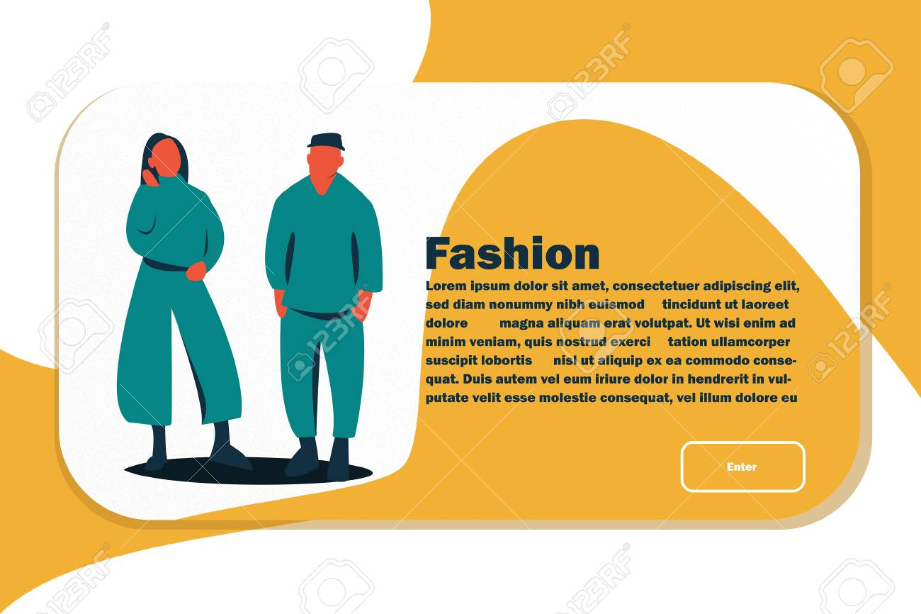 Website Layout with Flat People Characters. Easy to Edit and Customize. Vector illustration - 116643522