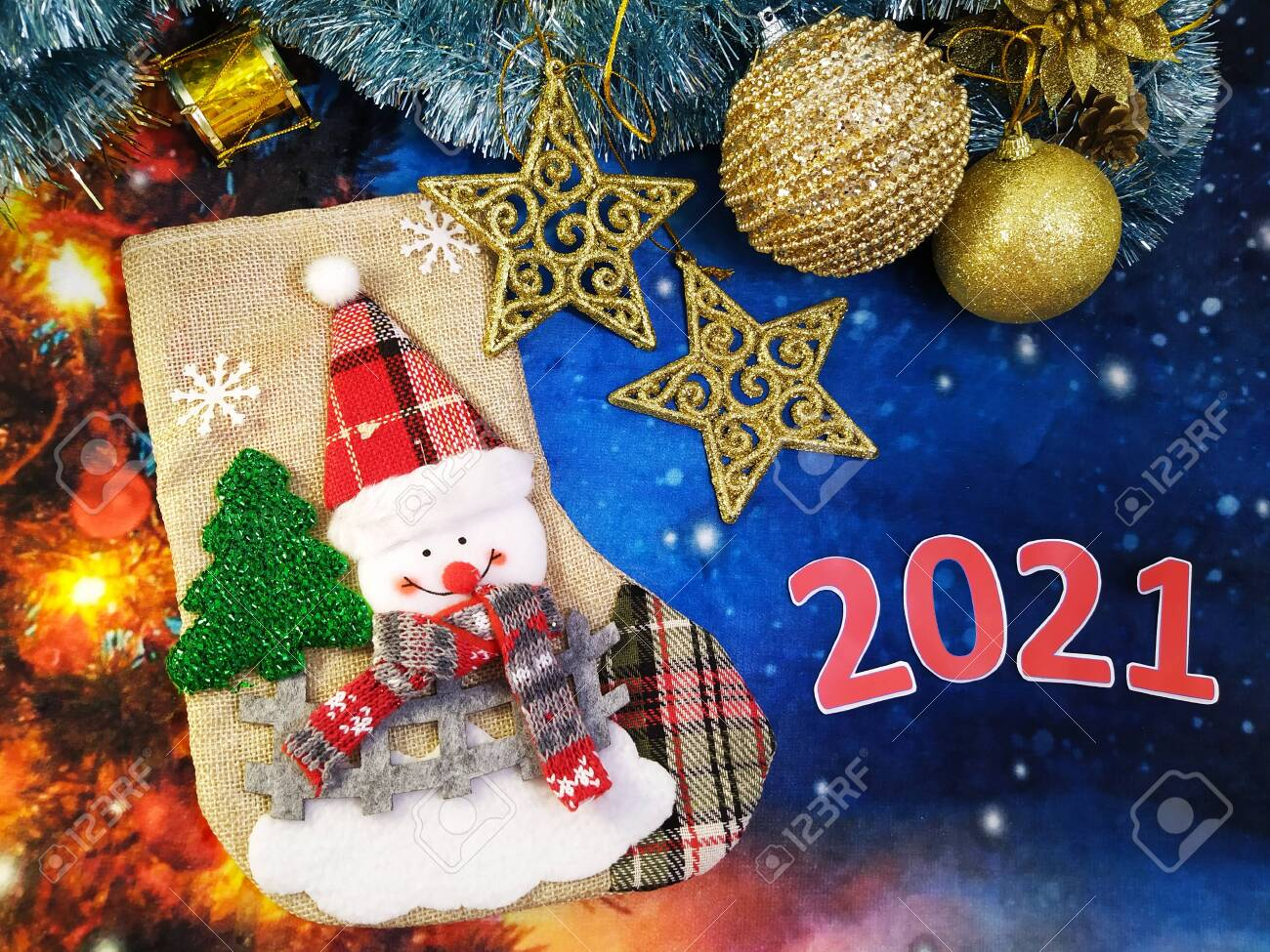 christmas decorations and new year 2021 stock photo picture and royalty free image image 136680692 christmas decorations and new year 2021