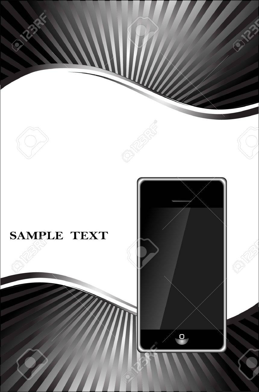abstract background with phone Stock Vector - 9473281