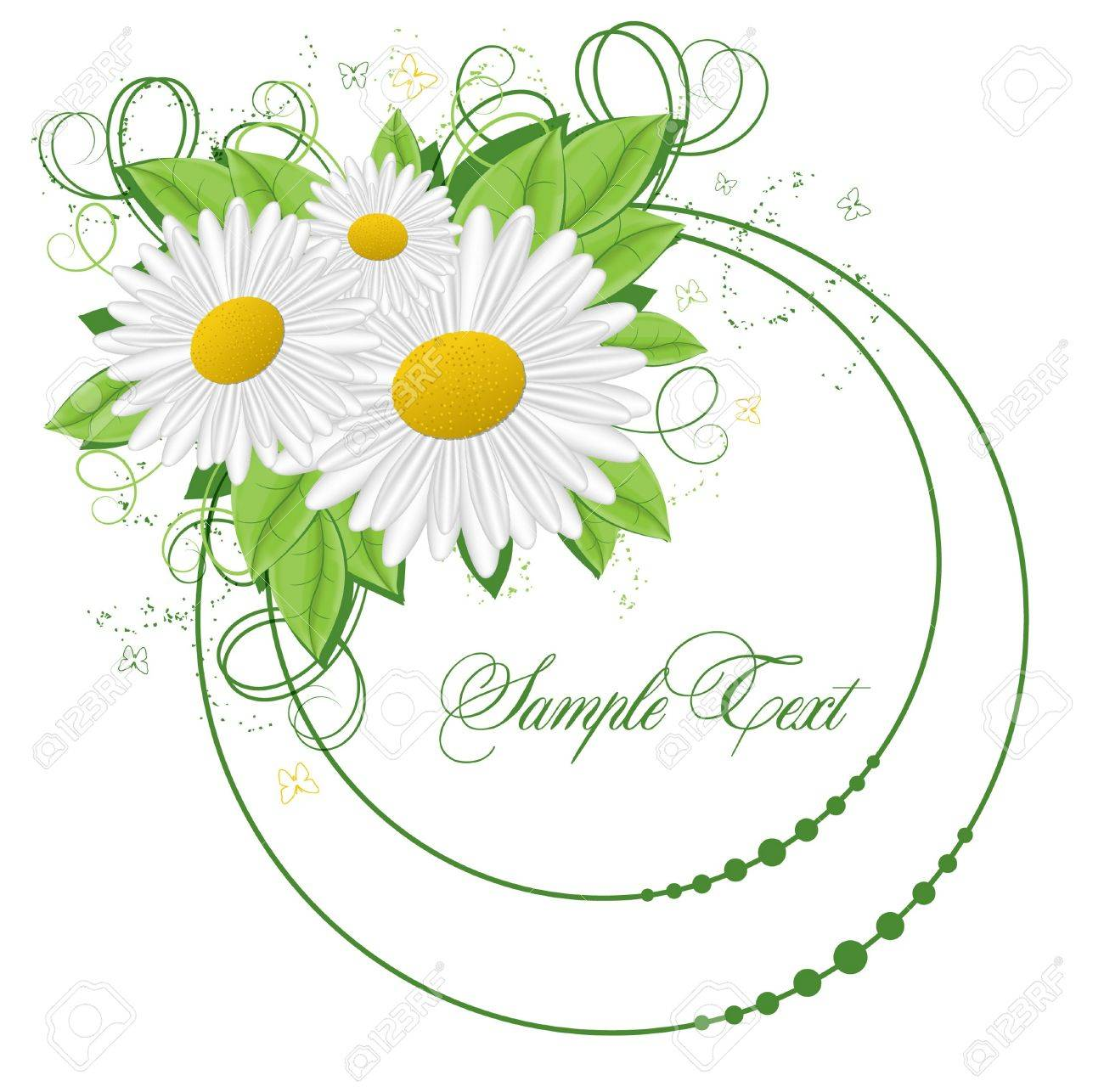 background with flower Stock Vector - 9477906