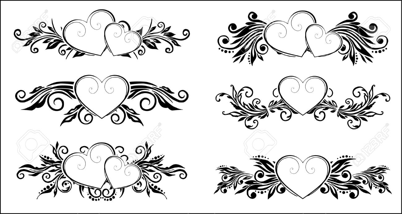 decorative floral elements Stock Vector - 9539626