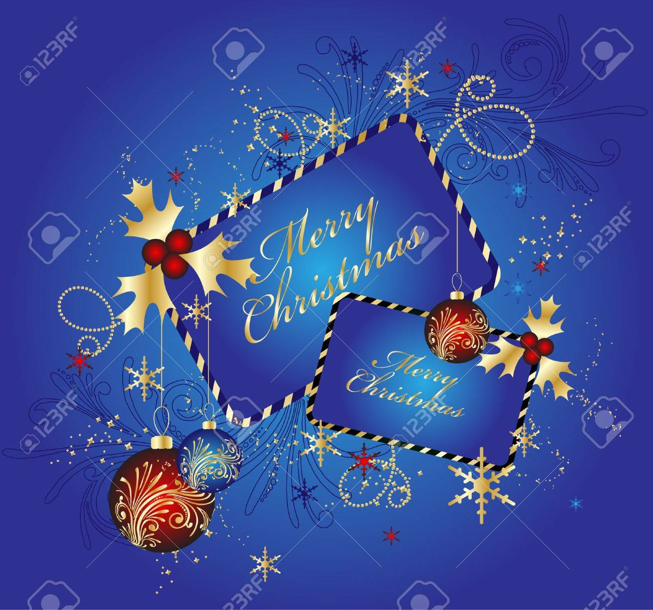 Blue Christmas background, vector illustration Stock Vector - 10352089
