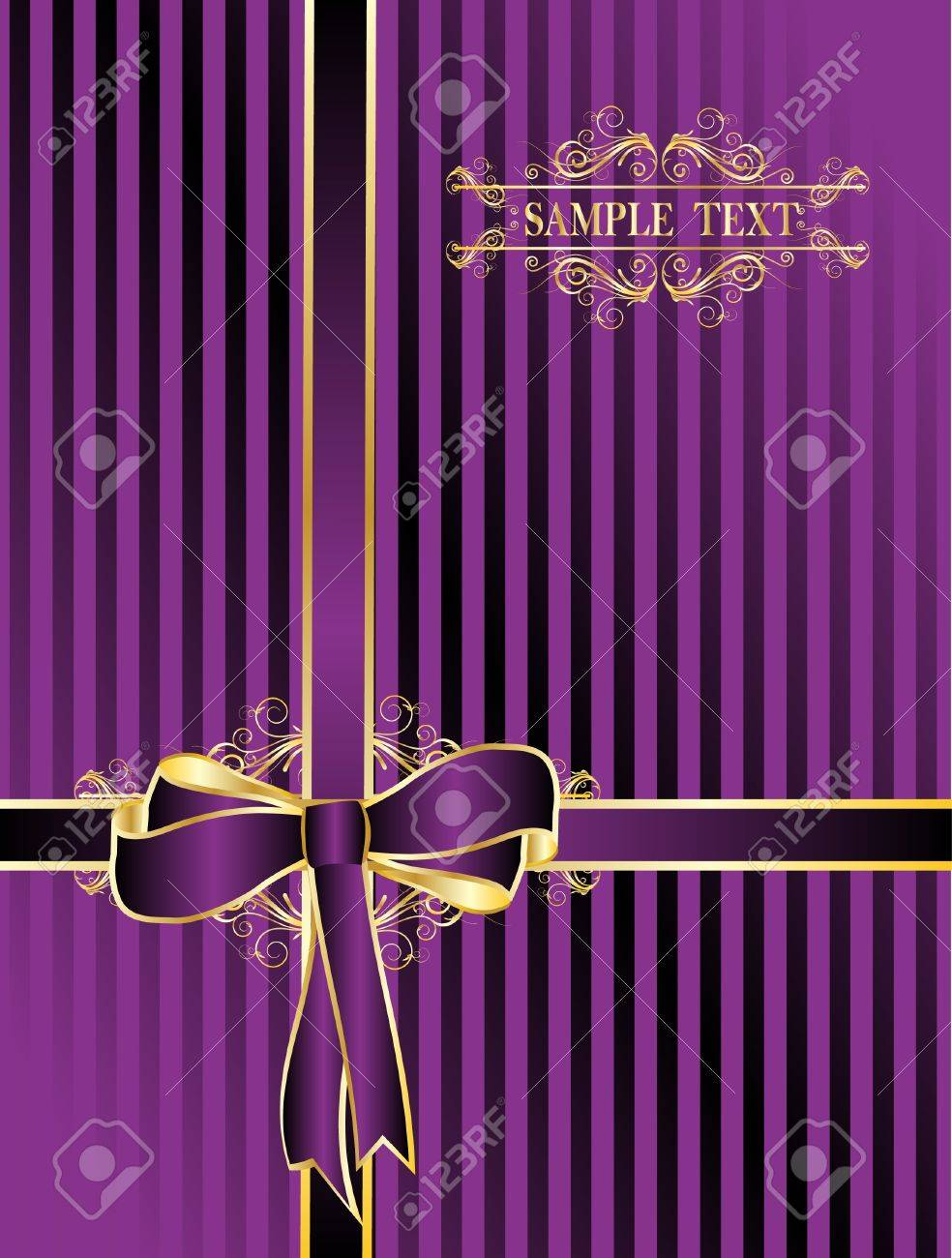 violet  bow for gifts Stock Vector - 10353559